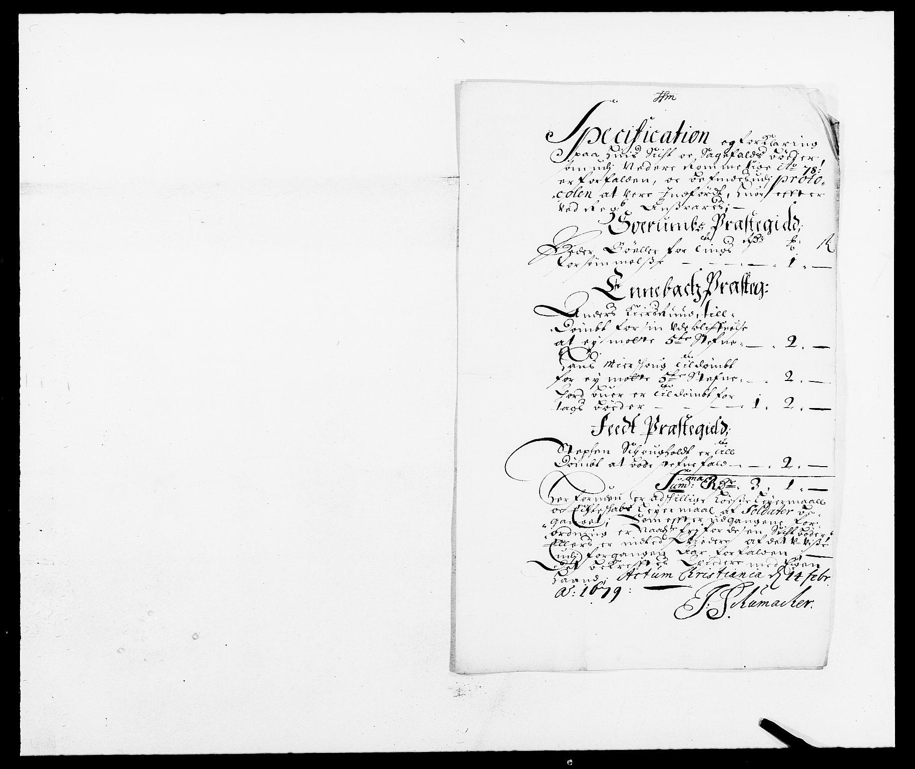 RA, Rentekammeret inntil 1814, Reviderte regnskaper, Fogderegnskap, R11/L0567: Fogderegnskap Nedre Romerike, 1678, s. 269