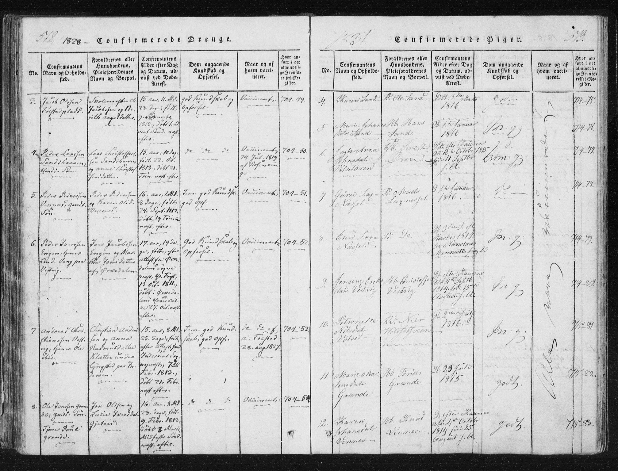 SAT, Ministerialprotokoller, klokkerbøker og fødselsregistre - Nord-Trøndelag, 744/L0417: Ministerialbok nr. 744A01, 1817-1842, s. 512-513