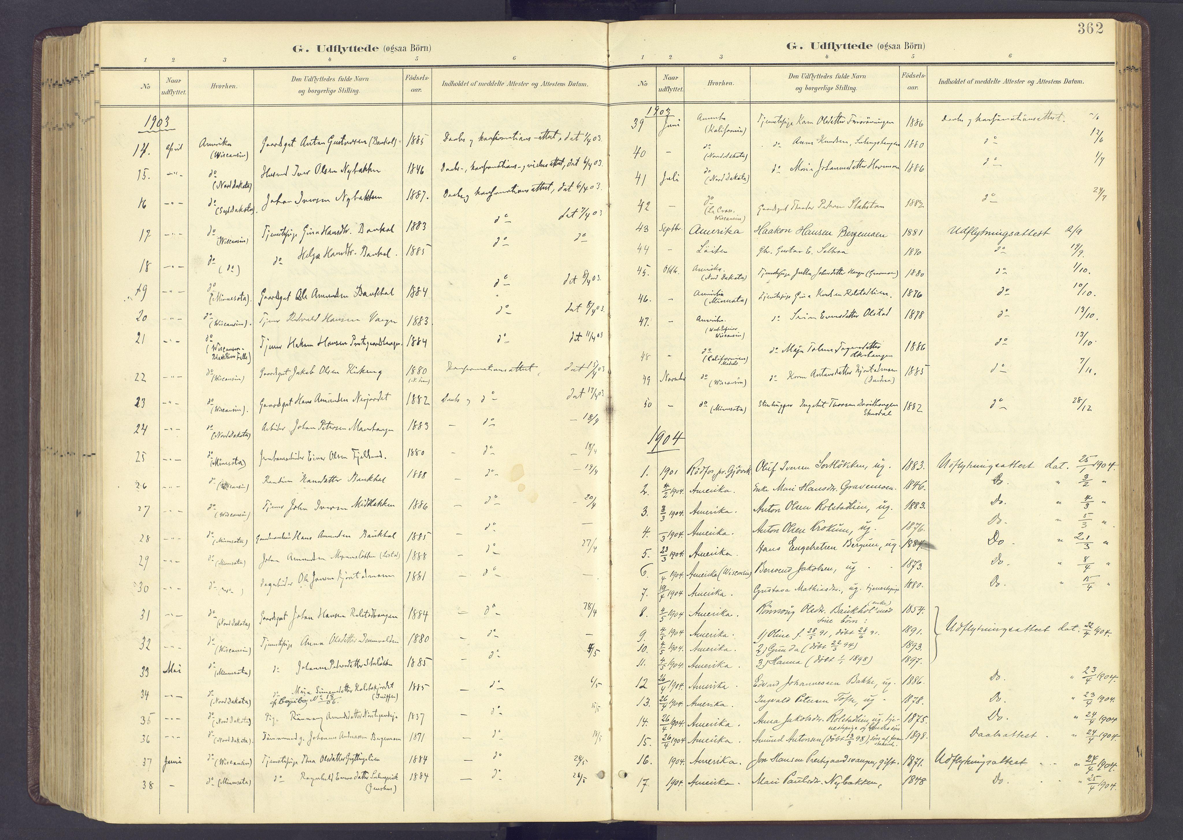 SAH, Sør-Fron prestekontor, H/Ha/Haa/L0004: Ministerialbok nr. 4, 1898-1919, s. 362