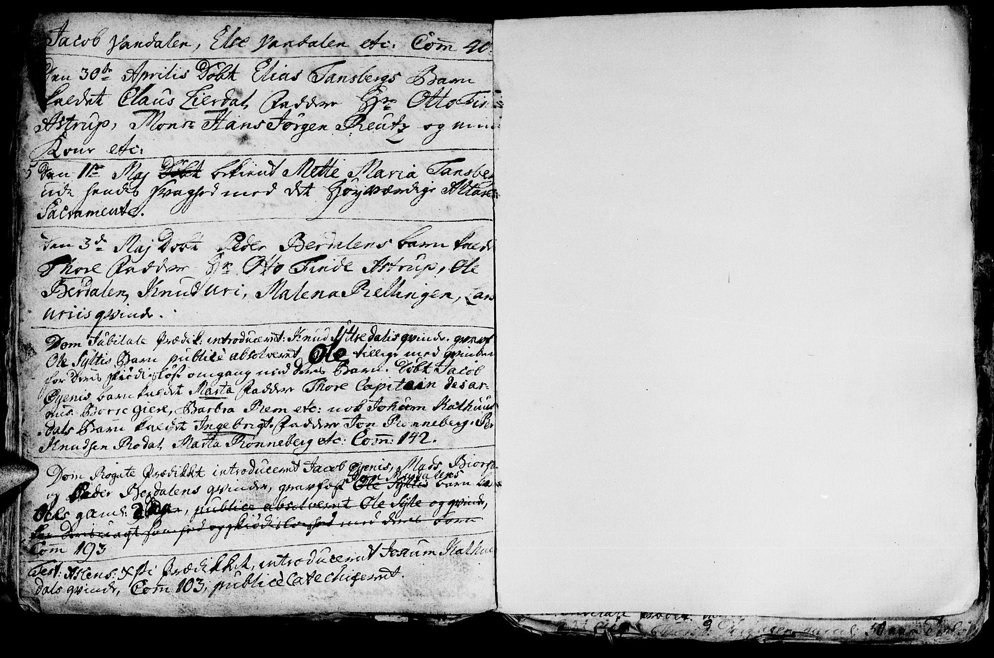 SAT, Ministerialprotokoller, klokkerbøker og fødselsregistre - Møre og Romsdal, 519/L0240: Ministerialbok nr. 519A01 /1, 1736-1760, s. 89b