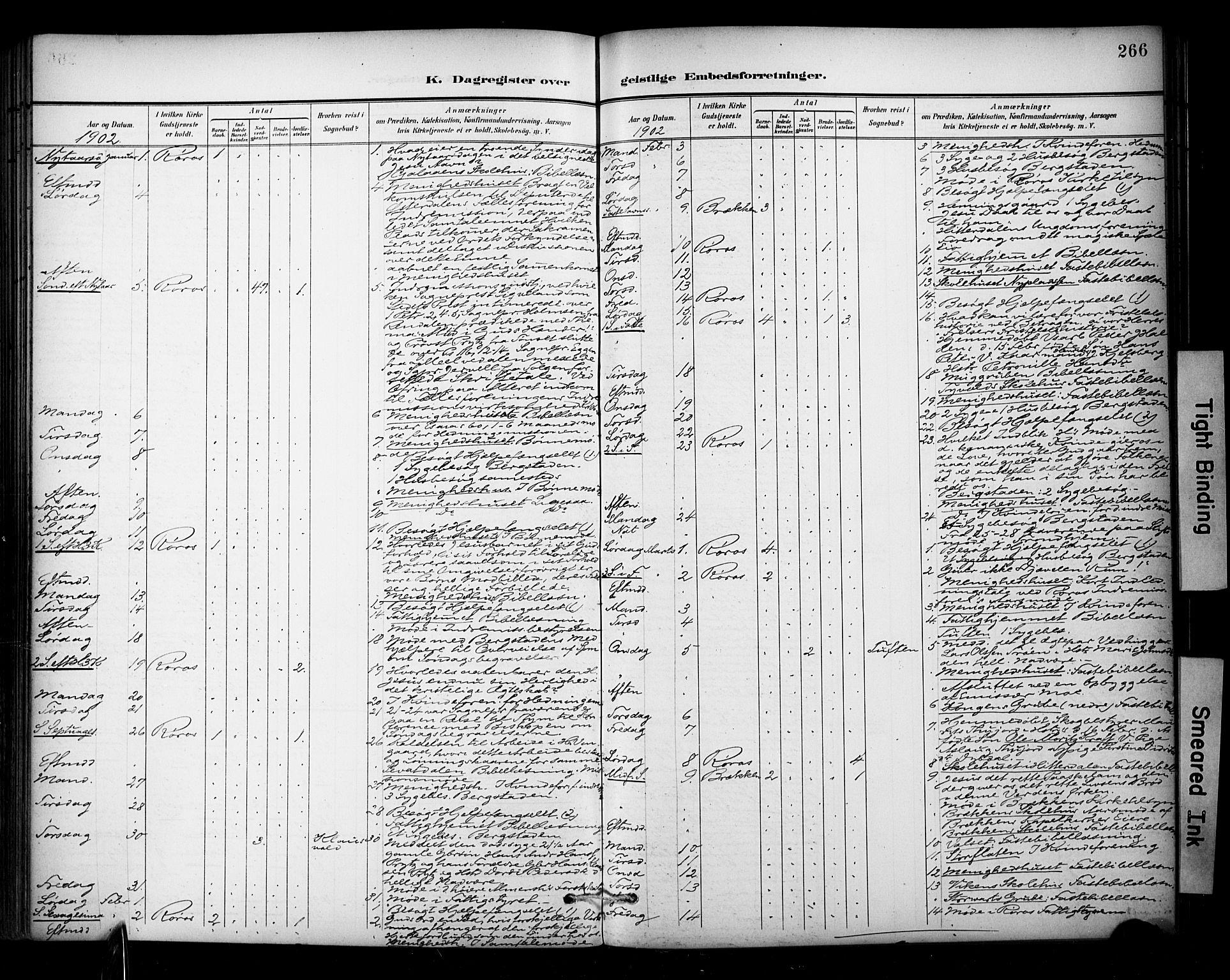 SAT, Ministerialprotokoller, klokkerbøker og fødselsregistre - Sør-Trøndelag, 681/L0936: Ministerialbok nr. 681A14, 1899-1908, s. 266