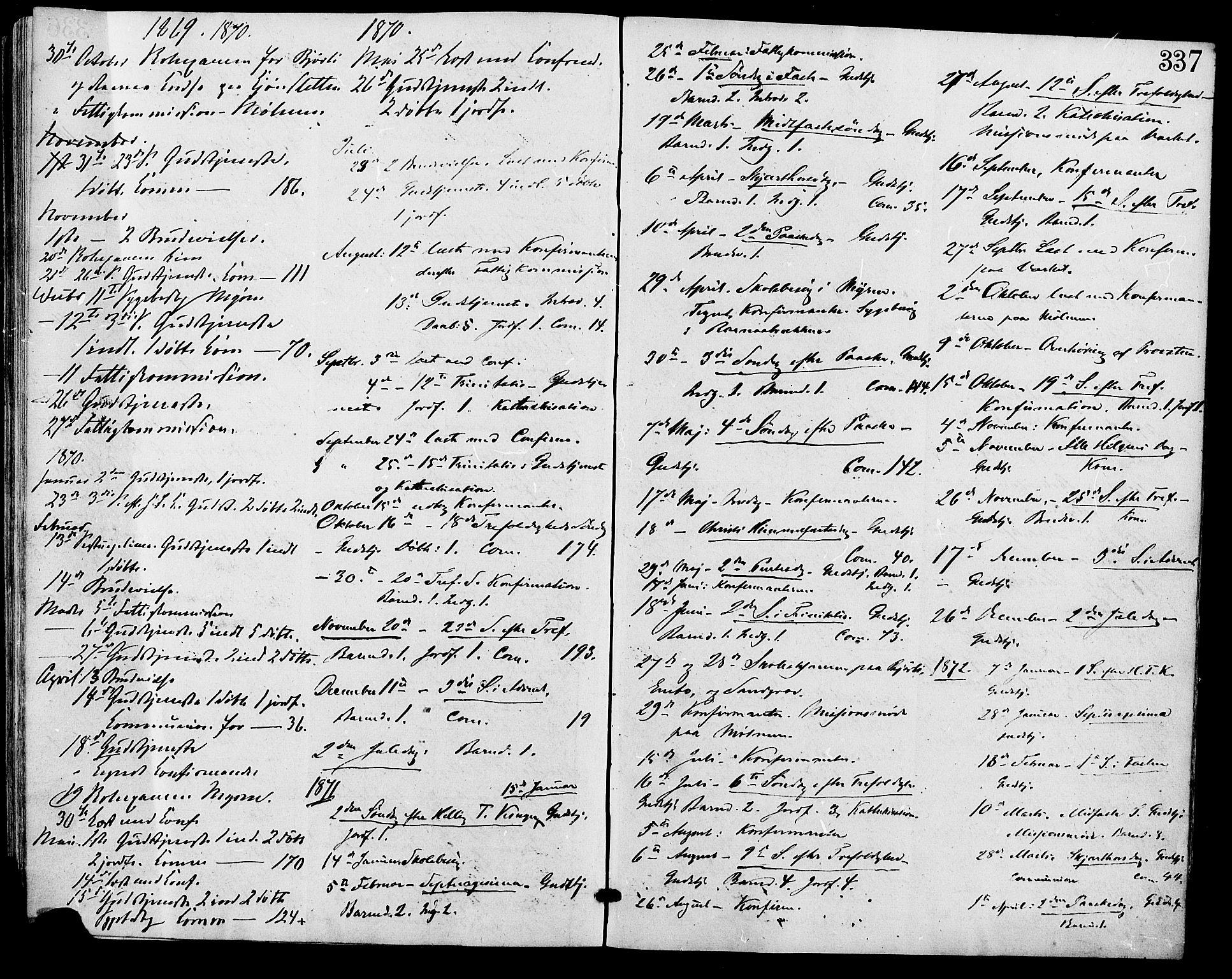 SAH, Lesja prestekontor, Ministerialbok nr. 9, 1854-1889, s. 337