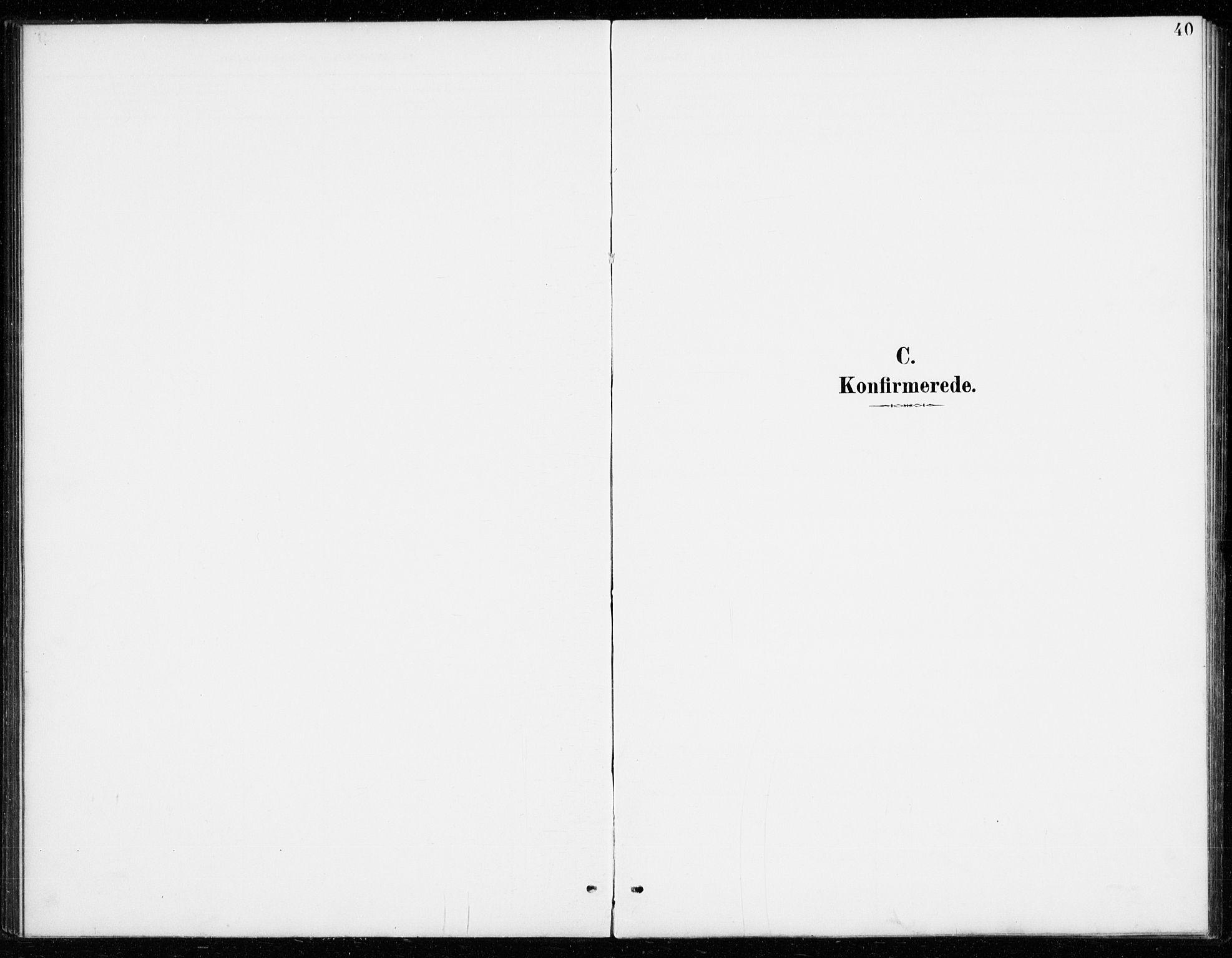 SAKO, Vinje kirkebøker, G/Gb/L0003: Klokkerbok nr. II 3, 1892-1943, s. 40