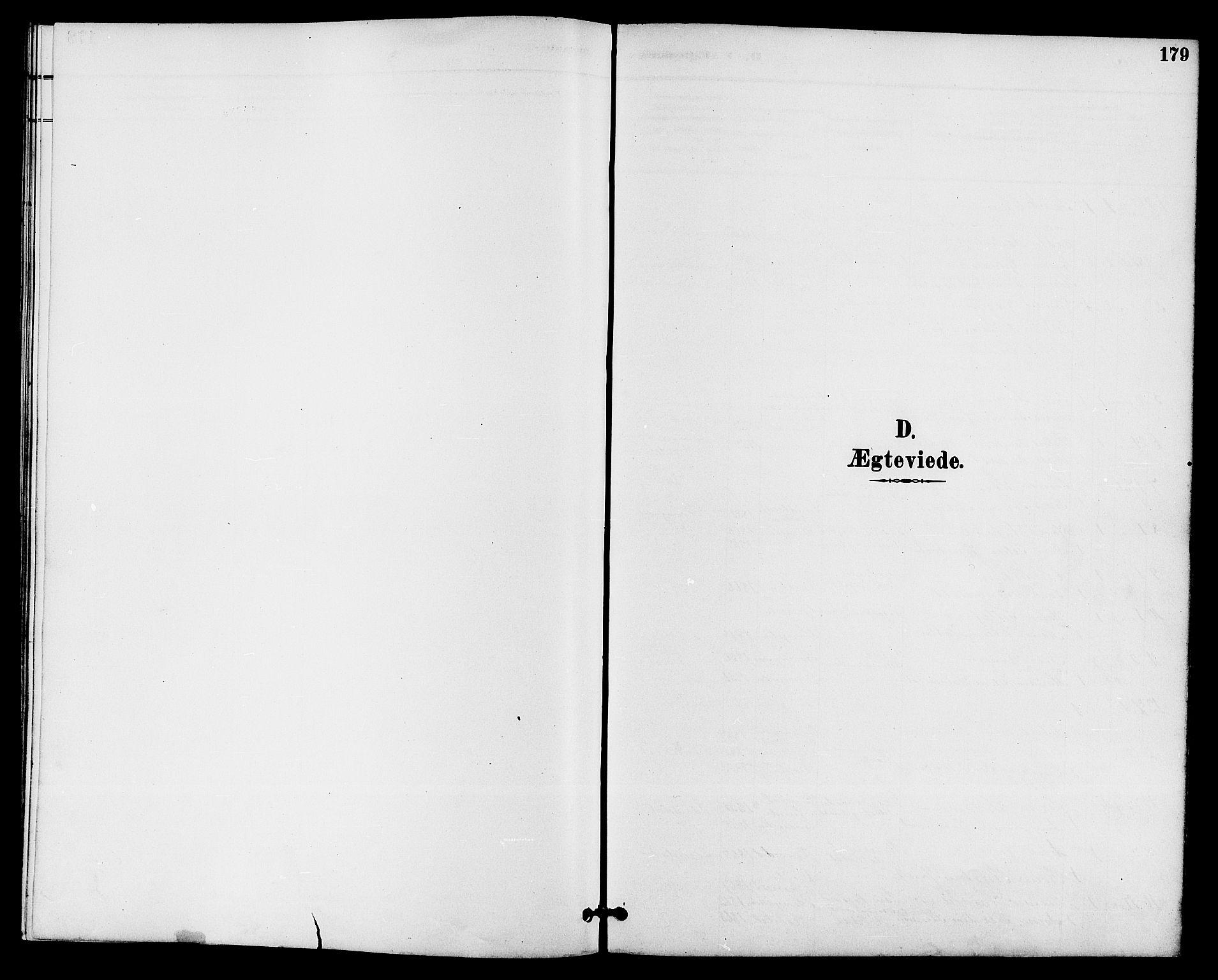 SAKO, Drangedal kirkebøker, G/Ga/L0003: Klokkerbok nr. I 3, 1887-1906, s. 179