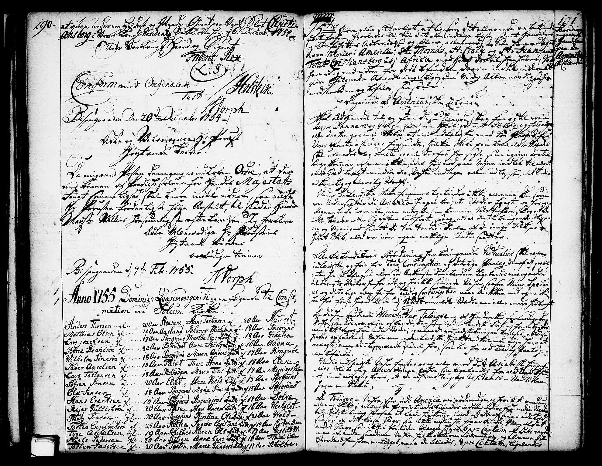 SAKO, Solum kirkebøker, Annen kirkebok nr. ?, 1743-1791, s. 190-191