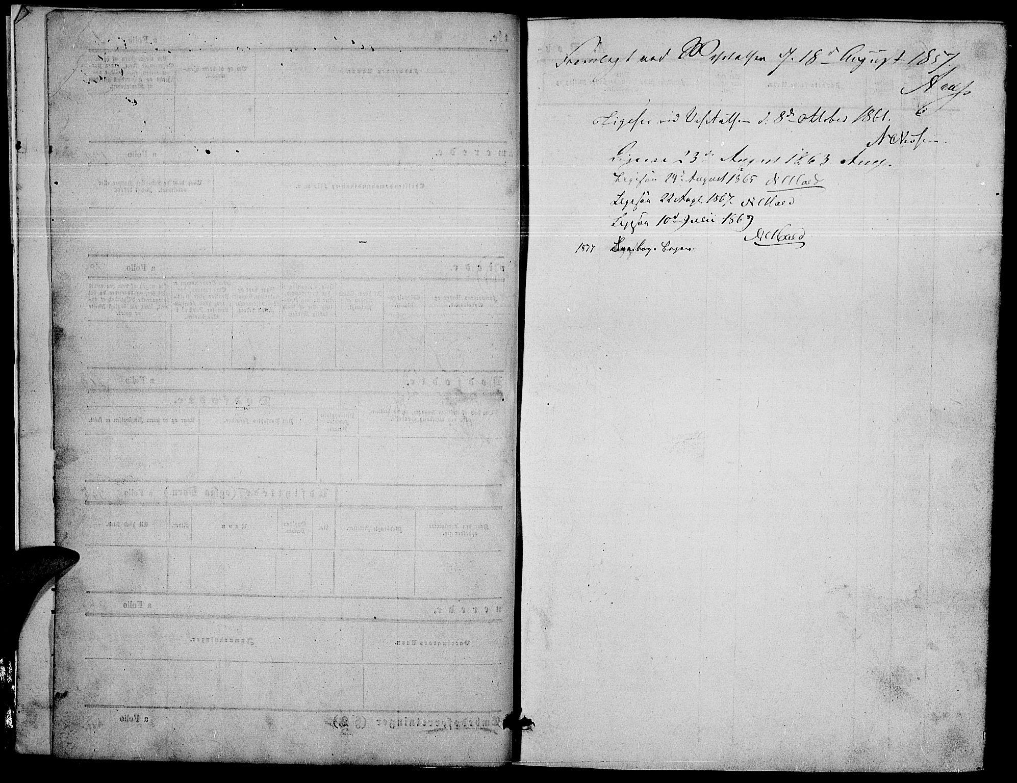 SAH, Nord-Fron prestekontor, Klokkerbok nr. 2, 1851-1883