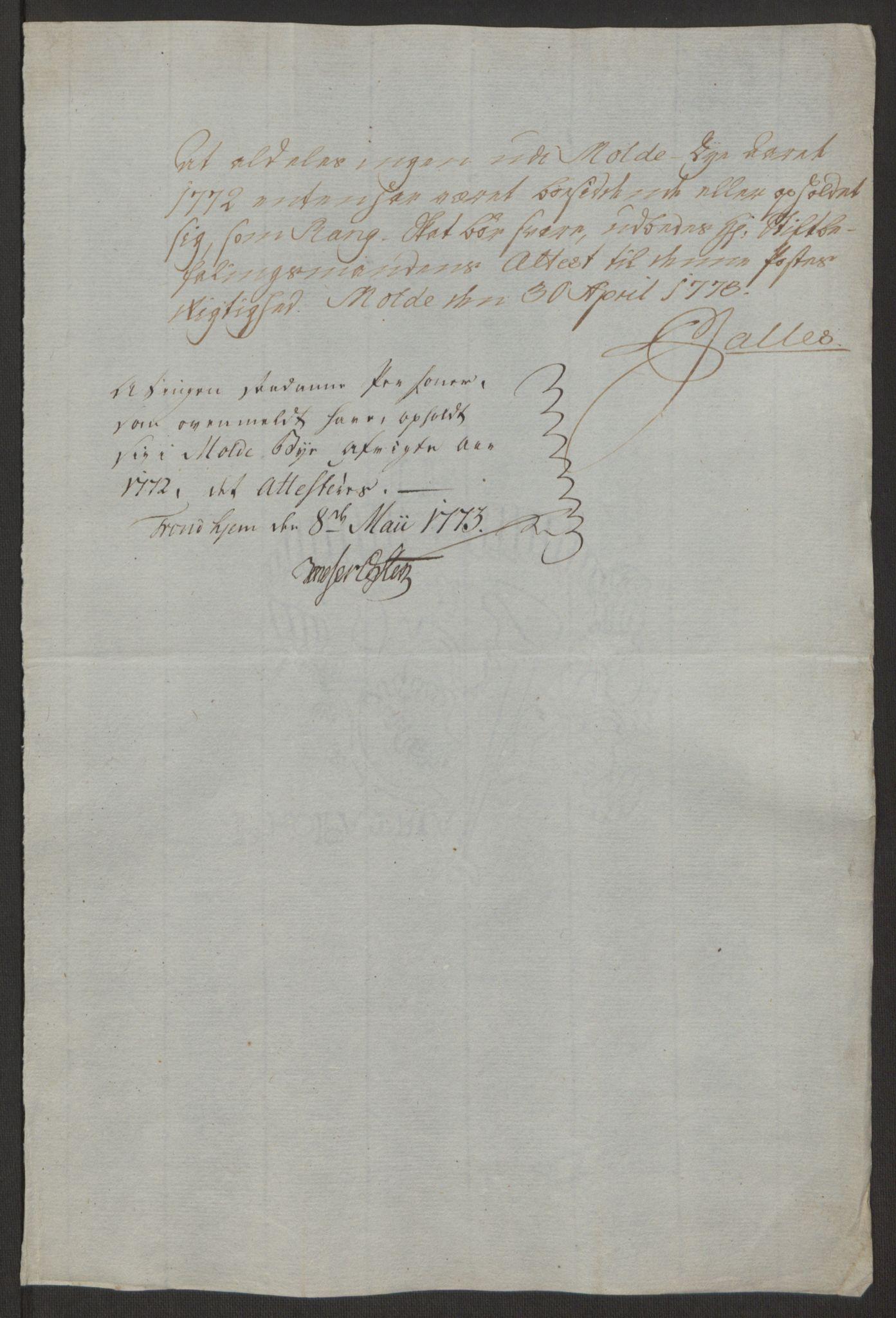 RA, Rentekammeret inntil 1814, Reviderte regnskaper, Byregnskaper, R/Rq/L0487: [Q1] Kontribusjonsregnskap, 1762-1772, s. 221
