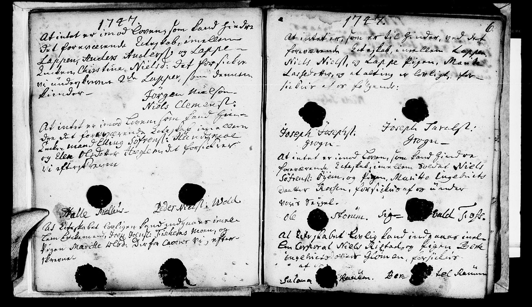 SAT, Ministerialprotokoller, klokkerbøker og fødselsregistre - Nord-Trøndelag, 764/L0541: Ministerialbok nr. 764A01, 1745-1758, s. 6