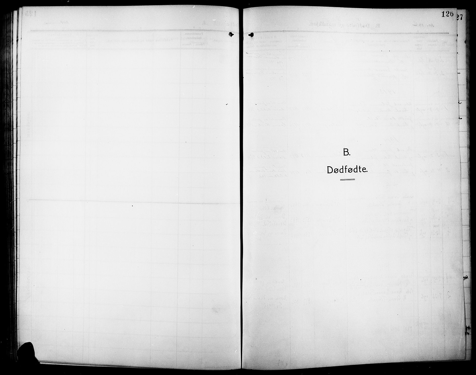 SAH, Lunner prestekontor, H/Ha/Hab/L0001: Klokkerbok nr. 1, 1909-1922, s. 126