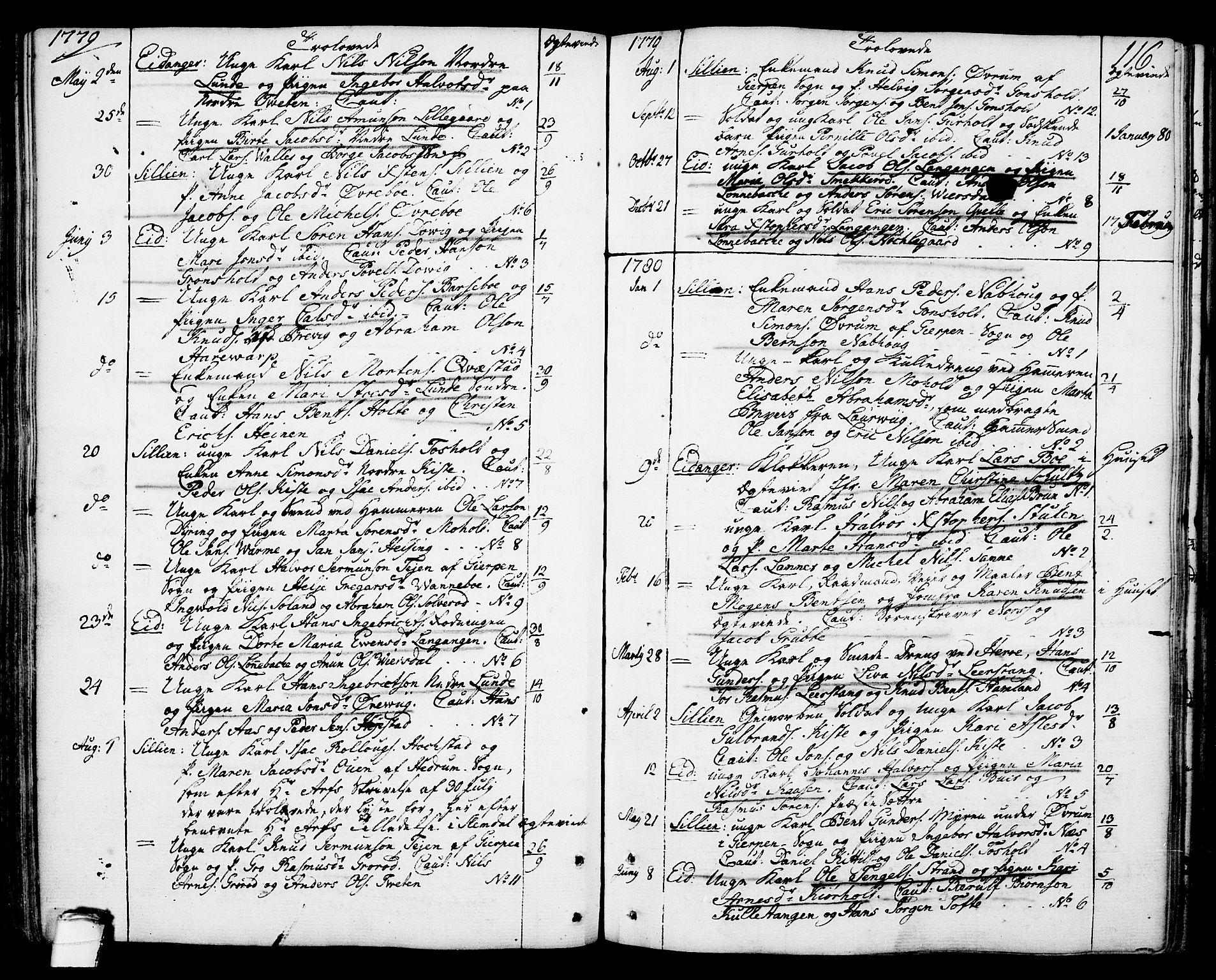 SAKO, Eidanger kirkebøker, F/Fa/L0006: Ministerialbok nr. 6, 1764-1814, s. 116