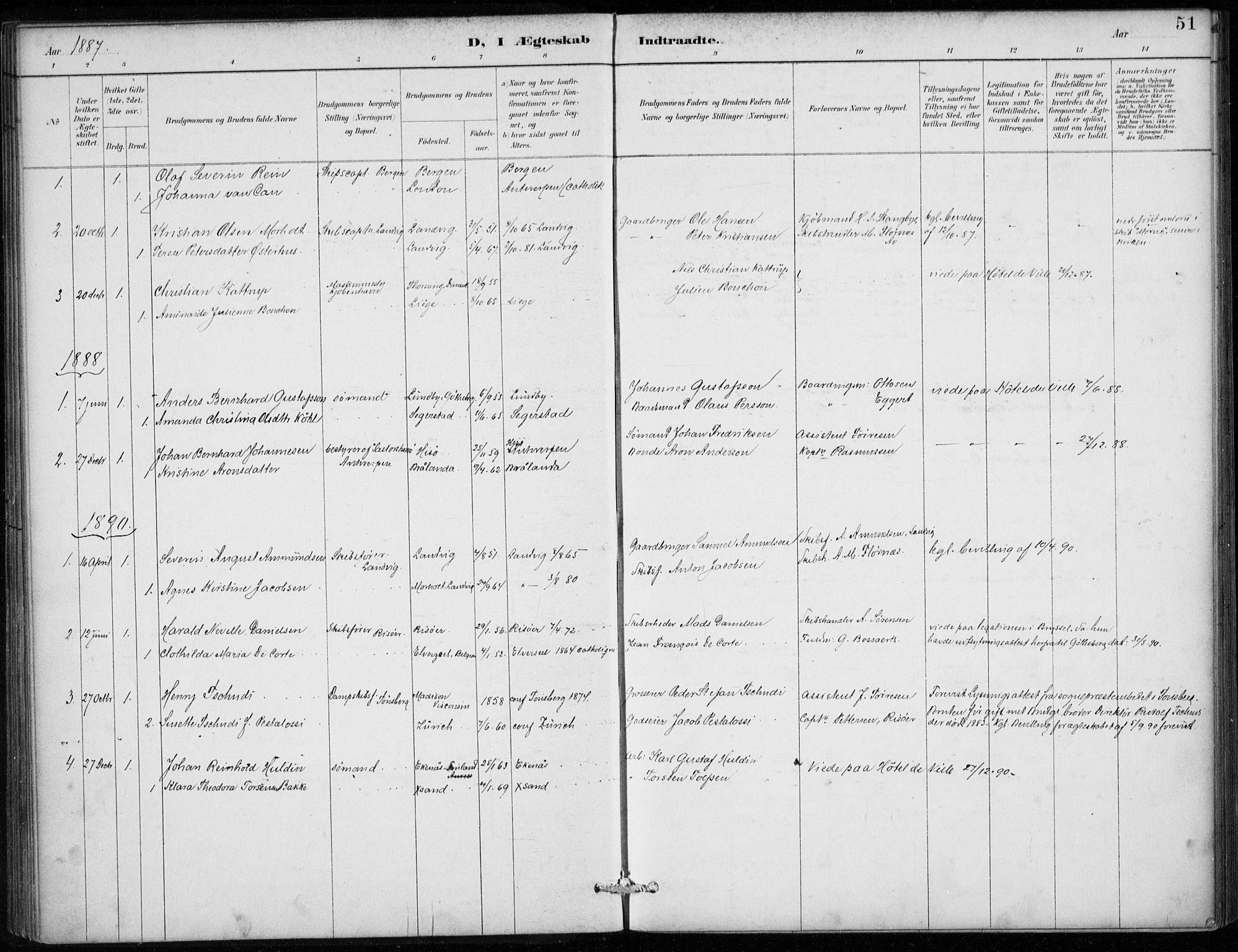 SAB, Den Norske Sjømannsmisjon i utlandet*, Ministerialbok nr. A 2, 1887-1913, s. 51