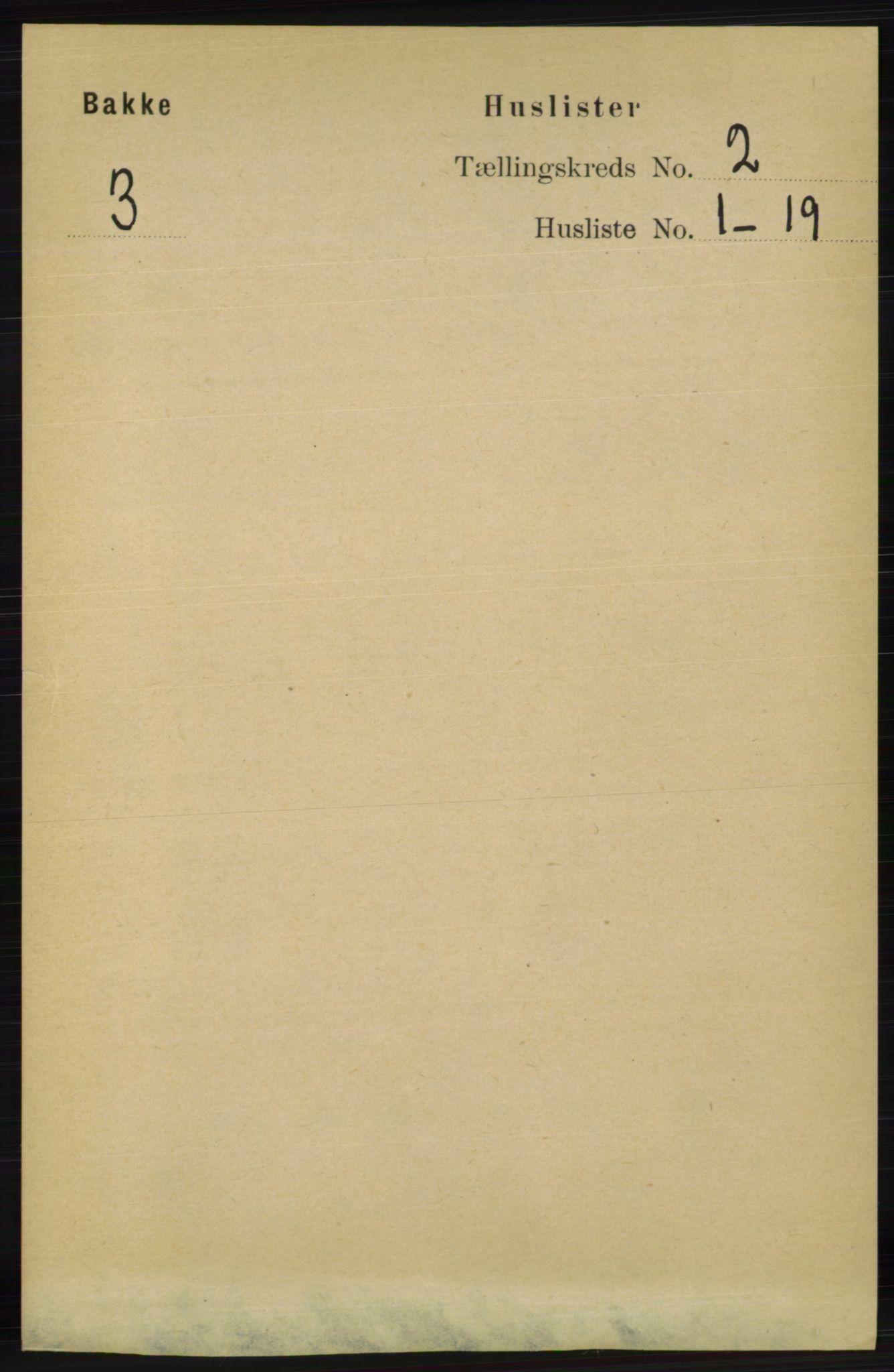 RA, Folketelling 1891 for 1045 Bakke herred, 1891, s. 261