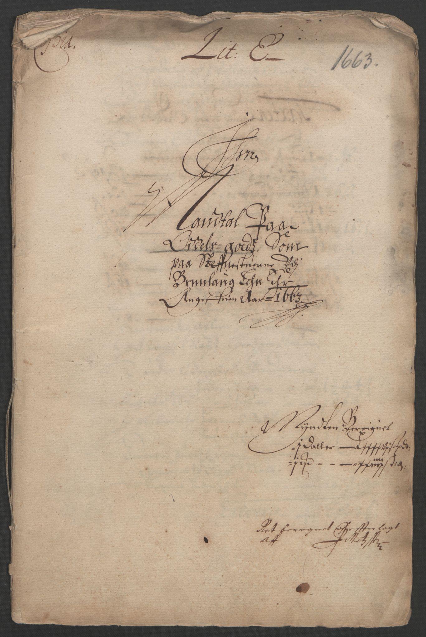 RA, Rentekammeret inntil 1814, Reviderte regnskaper, Fogderegnskap, R33/L1963: Fogderegnskap Larvik grevskap, 1662-1664, s. 139