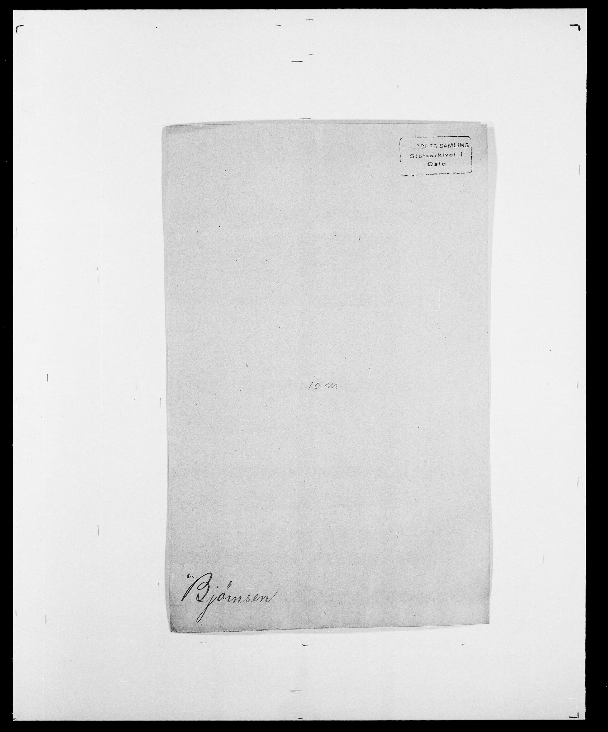 SAO, Delgobe, Charles Antoine - samling, D/Da/L0004: Bergendahl - Blære, s. 469