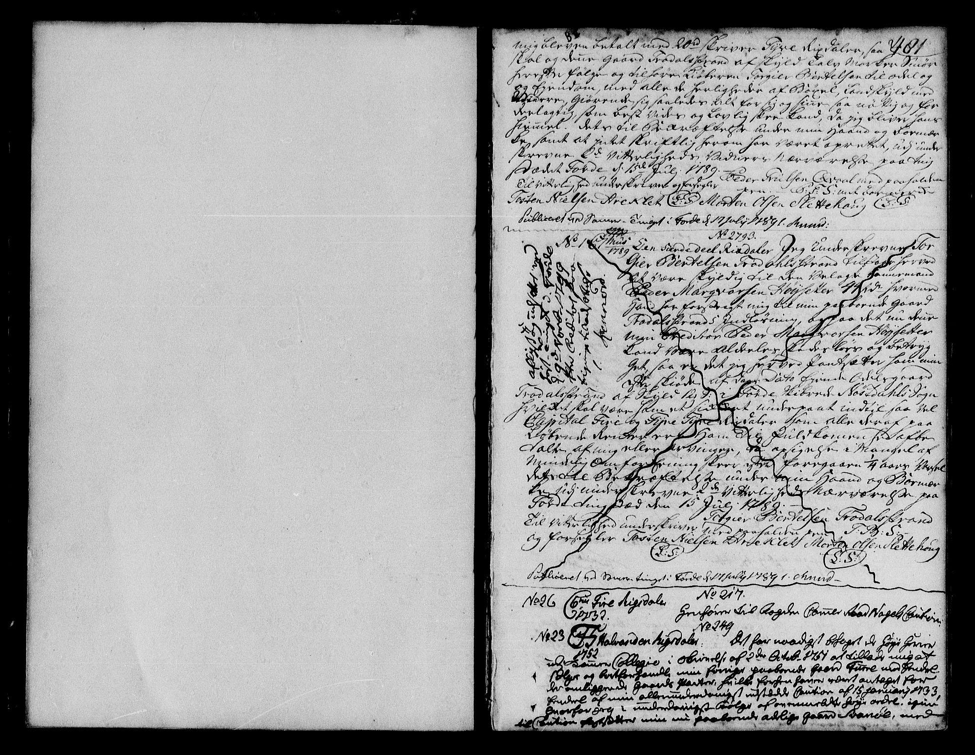 SAB, Sunnfjord tingrett, G/Gb/Gba/L0007b: Pantebok nr. II.B.7b, 1789-1806, s. 480-481
