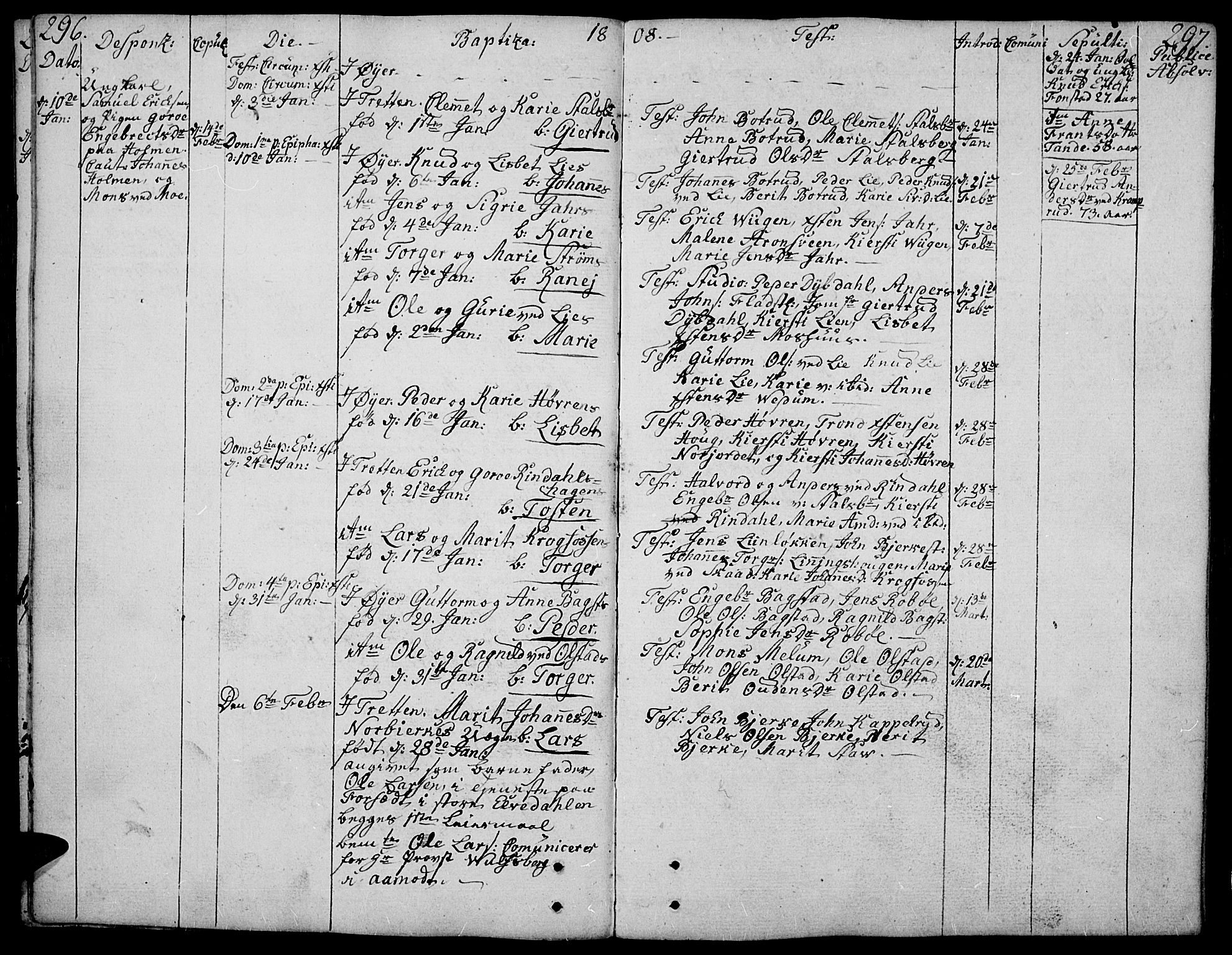 SAH, Øyer prestekontor, Ministerialbok nr. 3, 1784-1824, s. 296-297