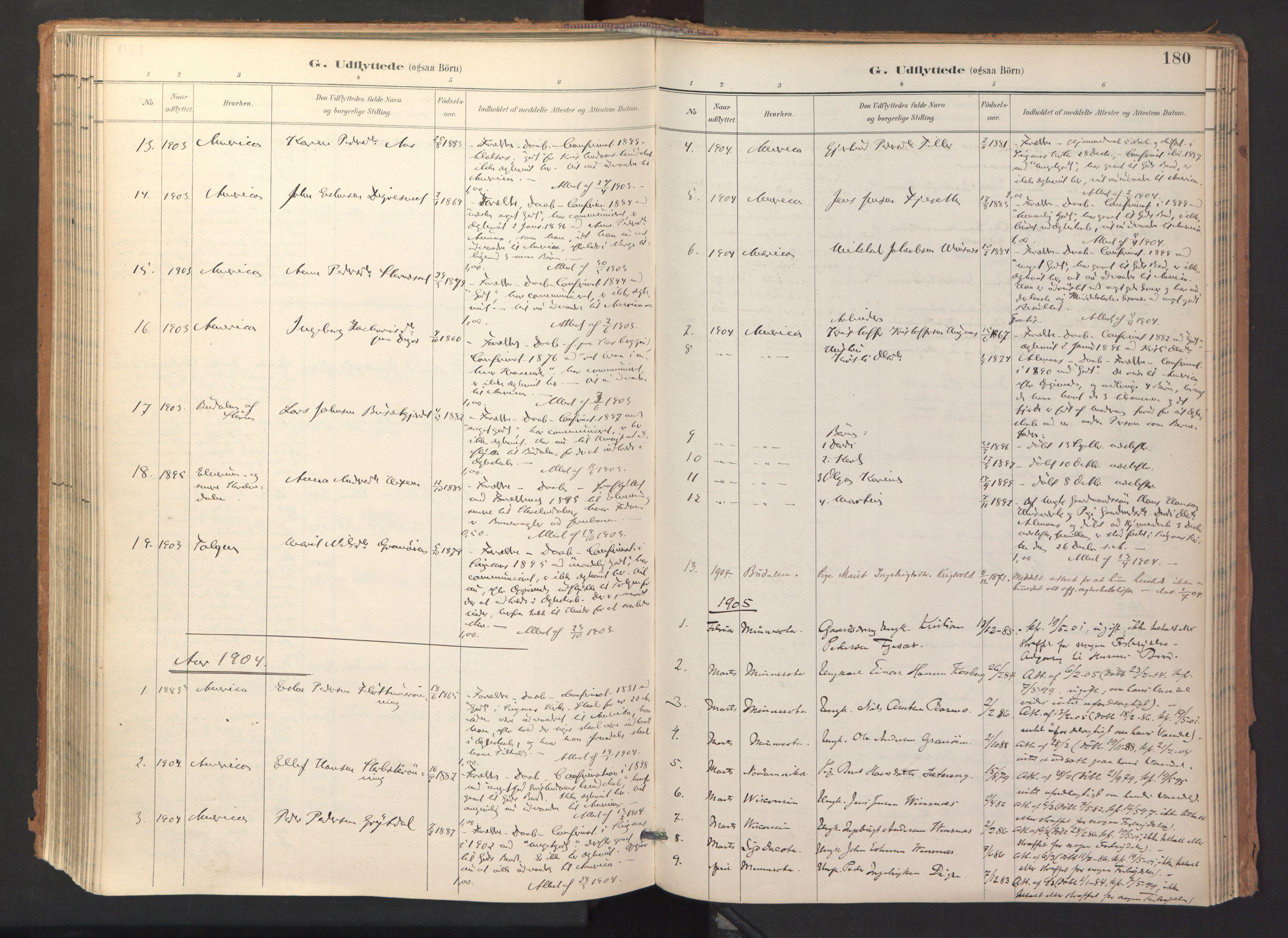 SAT, Ministerialprotokoller, klokkerbøker og fødselsregistre - Sør-Trøndelag, 688/L1025: Ministerialbok nr. 688A02, 1891-1909, s. 180