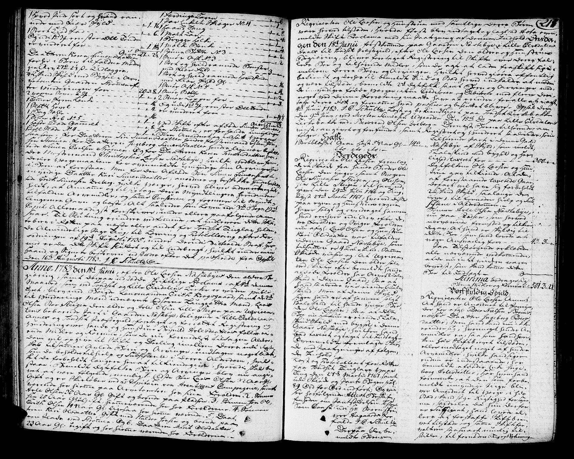 SAH, Østerdalen sorenskriveri, J/Ja/L0004: Skifteprotokoll, 1781-1785, s. 216b-217a