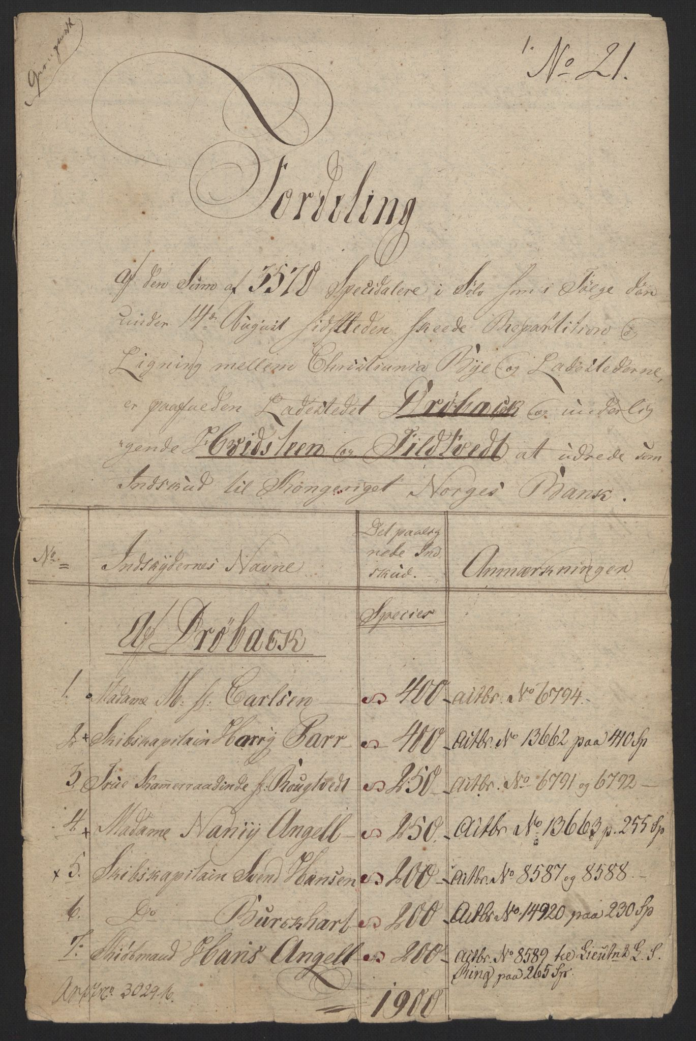 NOBA, Norges Bank/Sølvskatten 1816*, 1816-1820, s. 52