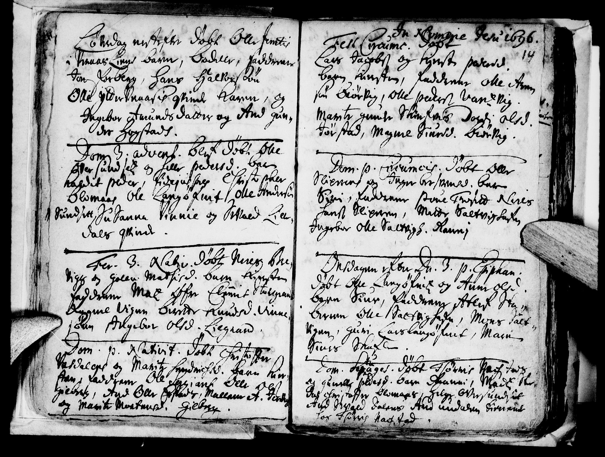 SAT, Ministerialprotokoller, klokkerbøker og fødselsregistre - Nord-Trøndelag, 722/L0214: Ministerialbok nr. 722A01, 1692-1718, s. 14