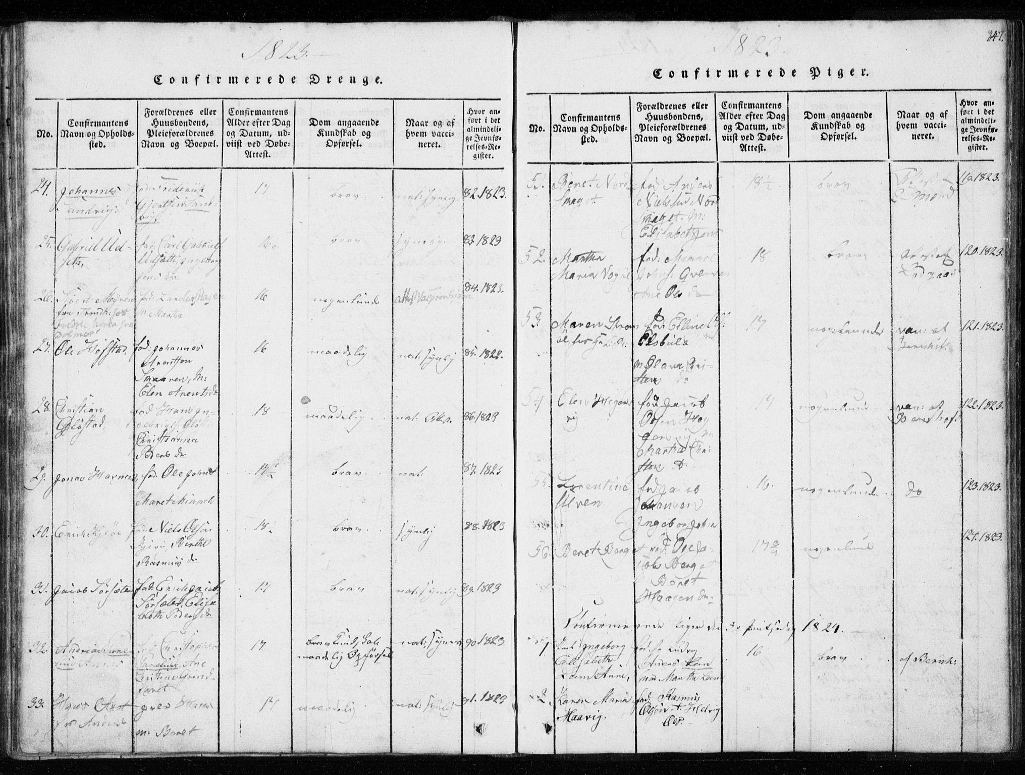 SAT, Ministerialprotokoller, klokkerbøker og fødselsregistre - Sør-Trøndelag, 634/L0527: Ministerialbok nr. 634A03, 1818-1826, s. 247
