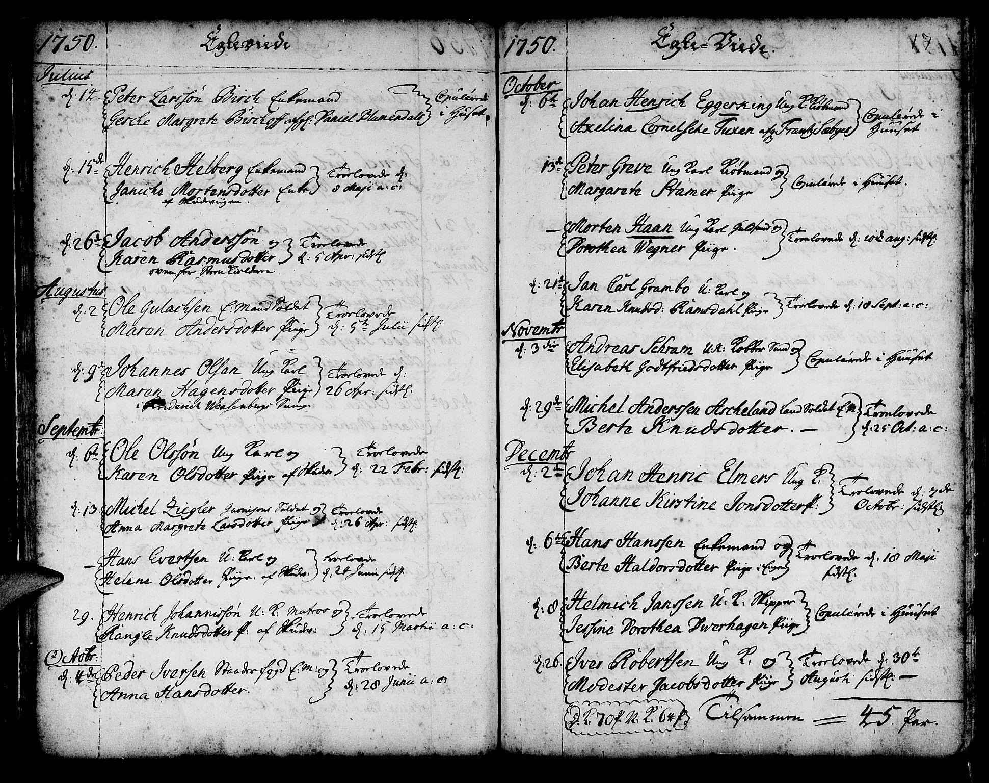 SAB, Korskirken Sokneprestembete, H/Haa/L0009: Ministerialbok nr. A 9, 1743-1861, s. 17