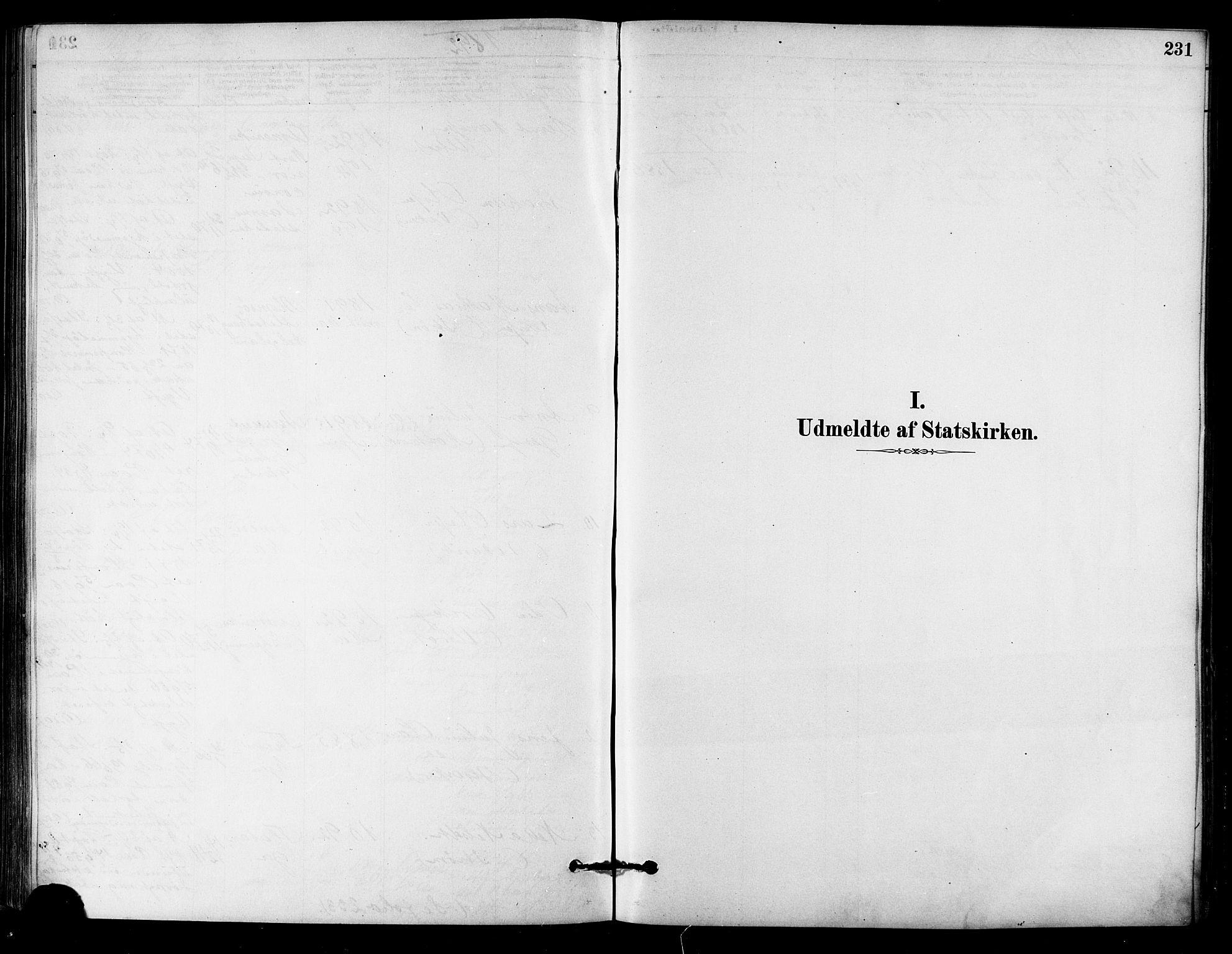 SAT, Ministerialprotokoller, klokkerbøker og fødselsregistre - Sør-Trøndelag, 657/L0707: Ministerialbok nr. 657A08, 1879-1893, s. 231