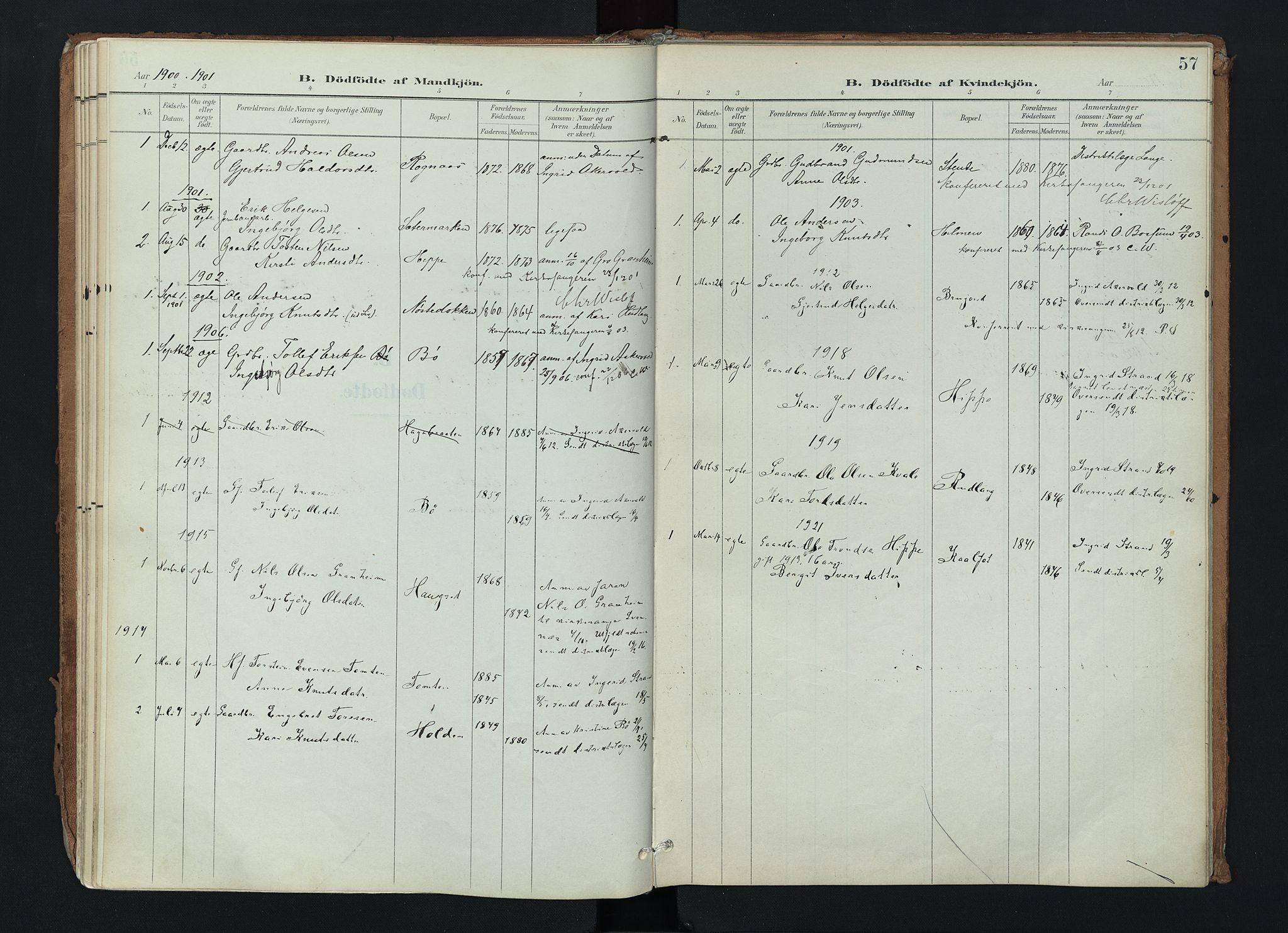 SAH, Nord-Aurdal prestekontor, Ministerialbok nr. 17, 1897-1926, s. 57