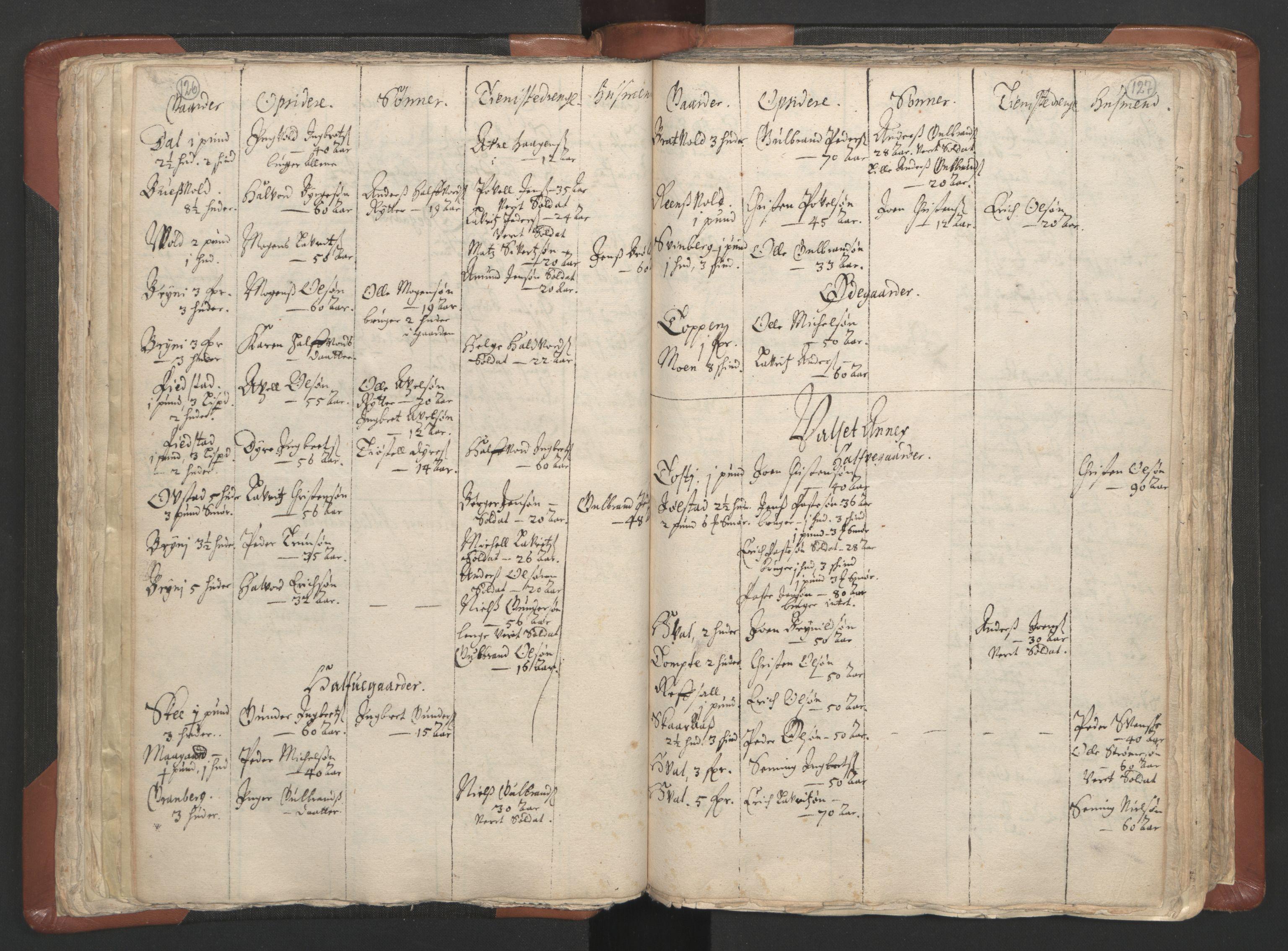 RA, Sogneprestenes manntall 1664-1666, nr. 5: Hedmark prosti, 1664-1666, s. 126-127