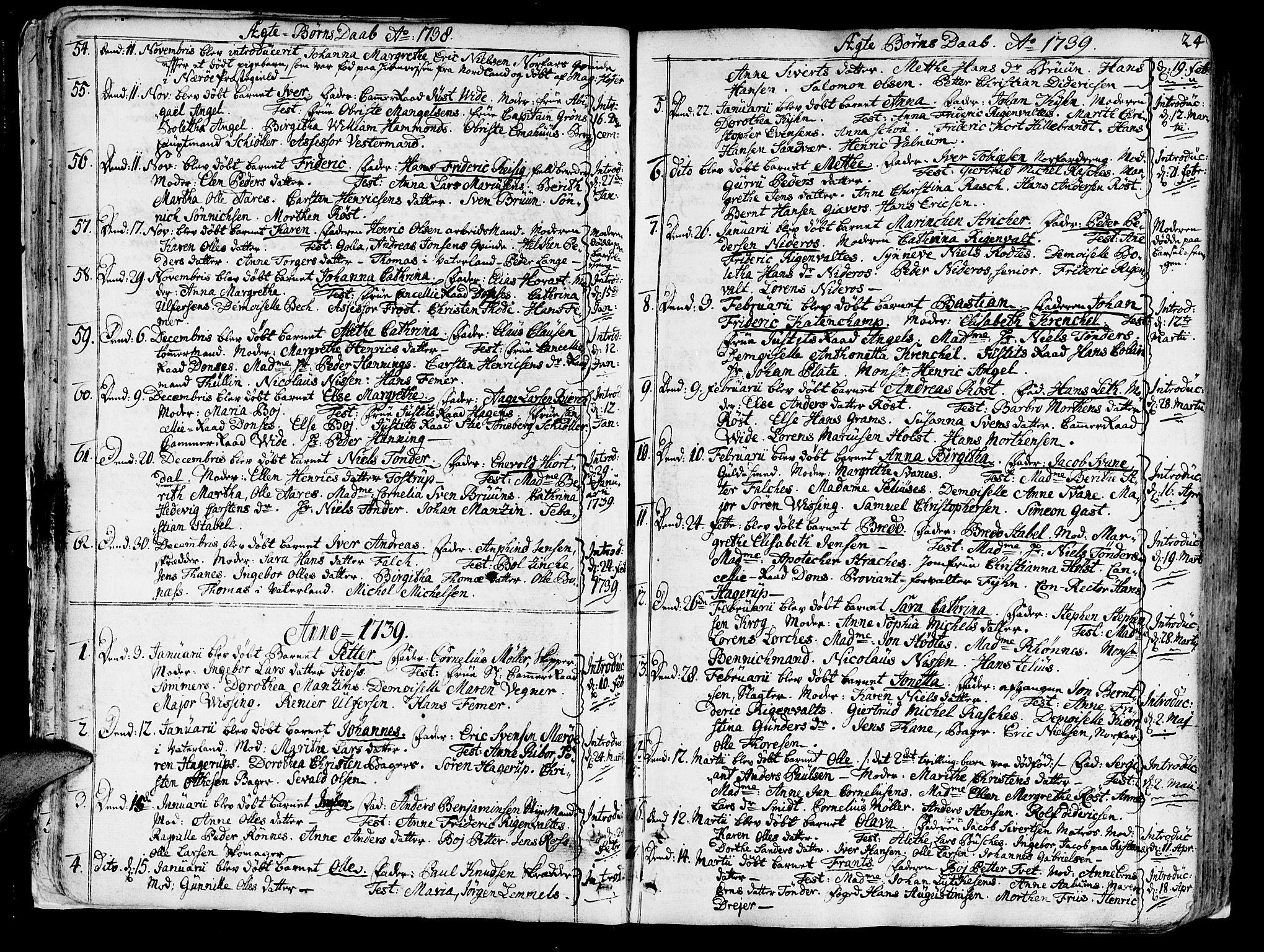 SAT, Ministerialprotokoller, klokkerbøker og fødselsregistre - Sør-Trøndelag, 602/L0103: Ministerialbok nr. 602A01, 1732-1774, s. 24