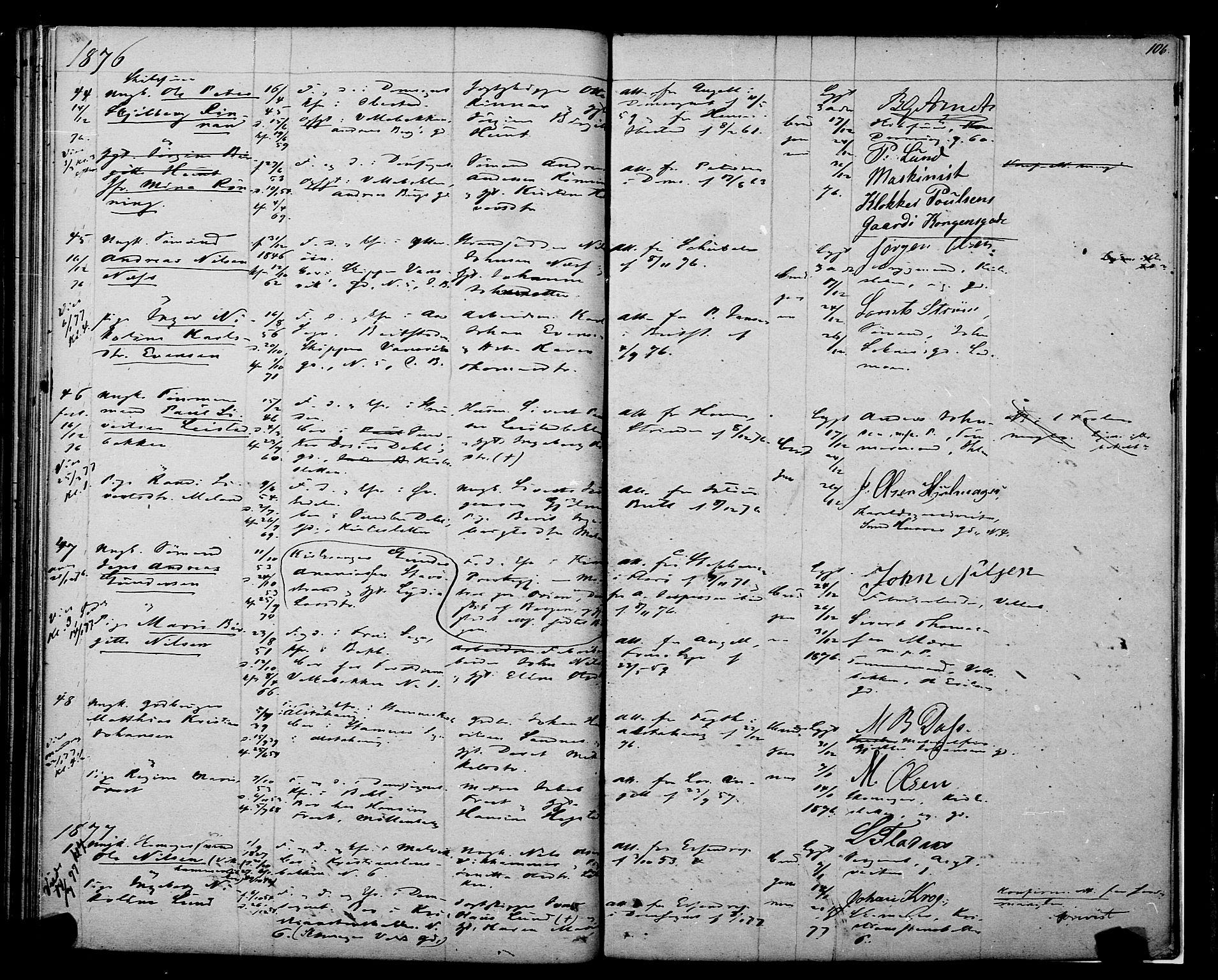 SAT, Ministerialprotokoller, klokkerbøker og fødselsregistre - Sør-Trøndelag, 604/L0187: Ministerialbok nr. 604A08, 1847-1878, s. 106