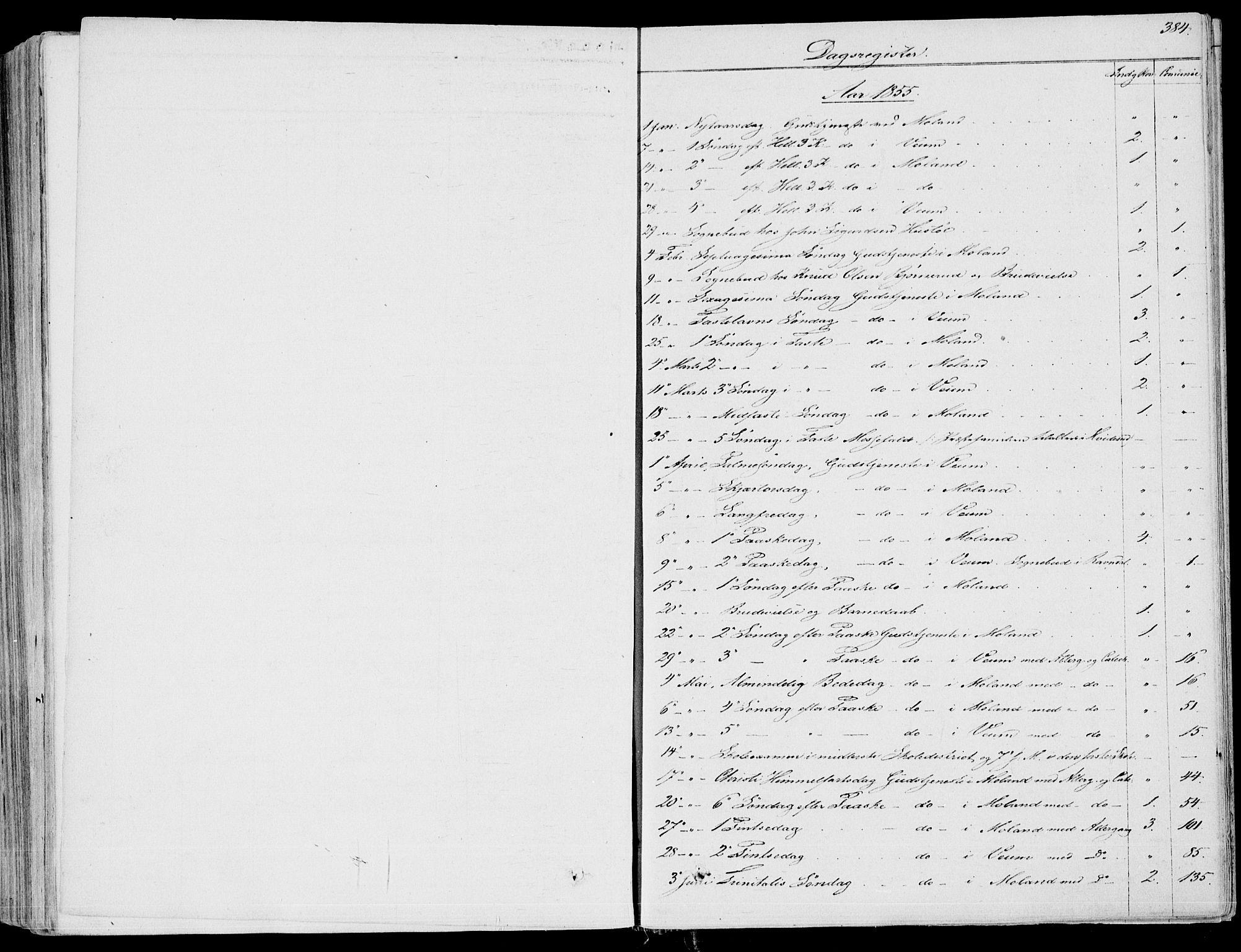 SAKO, Fyresdal kirkebøker, F/Fa/L0005: Ministerialbok nr. I 5, 1855-1871, s. 384