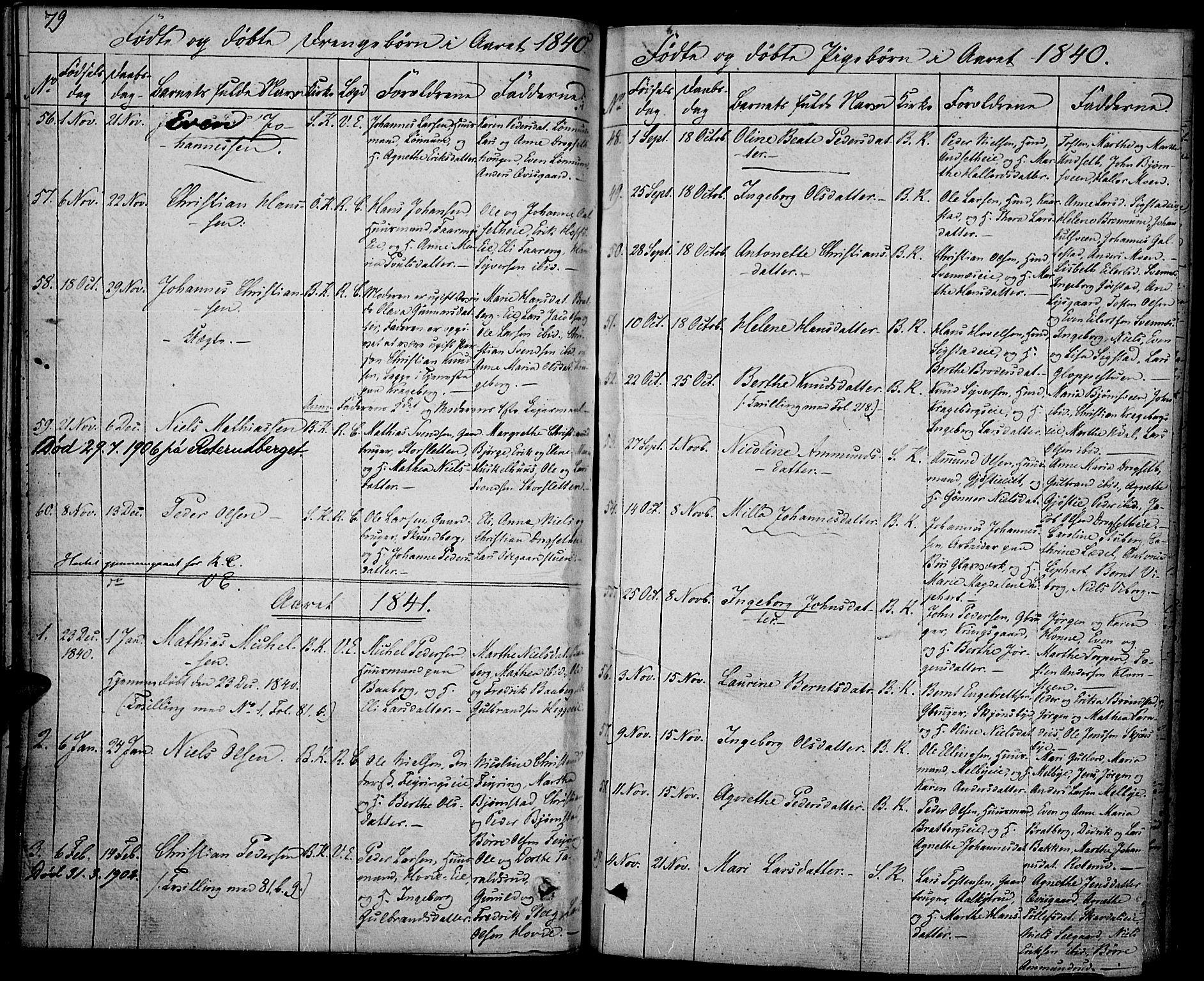 SAH, Biri prestekontor, Ministerialbok nr. 4, 1829-1842, s. 79