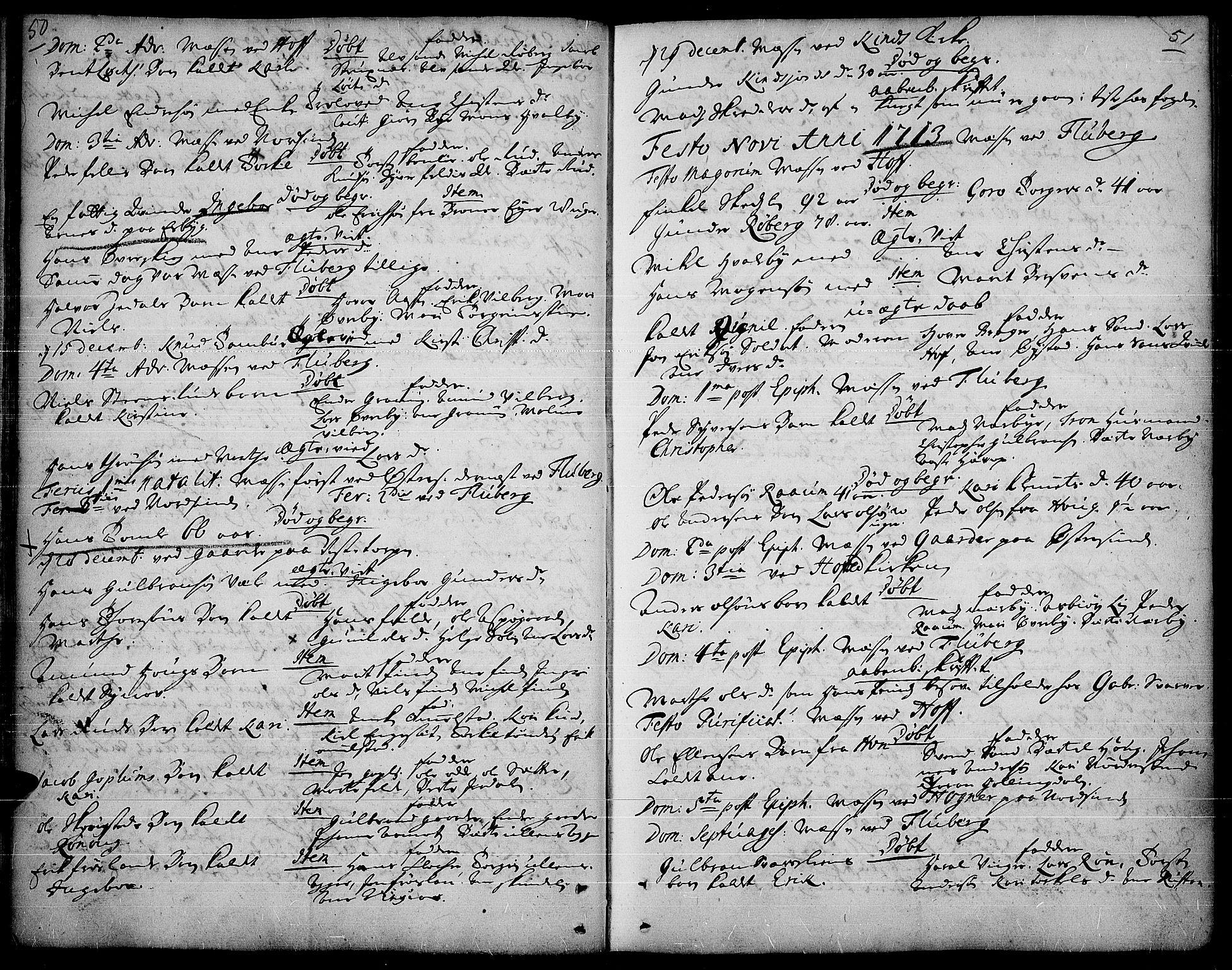 SAH, Land prestekontor, Ministerialbok nr. 1, 1708-1732, s. 50-51