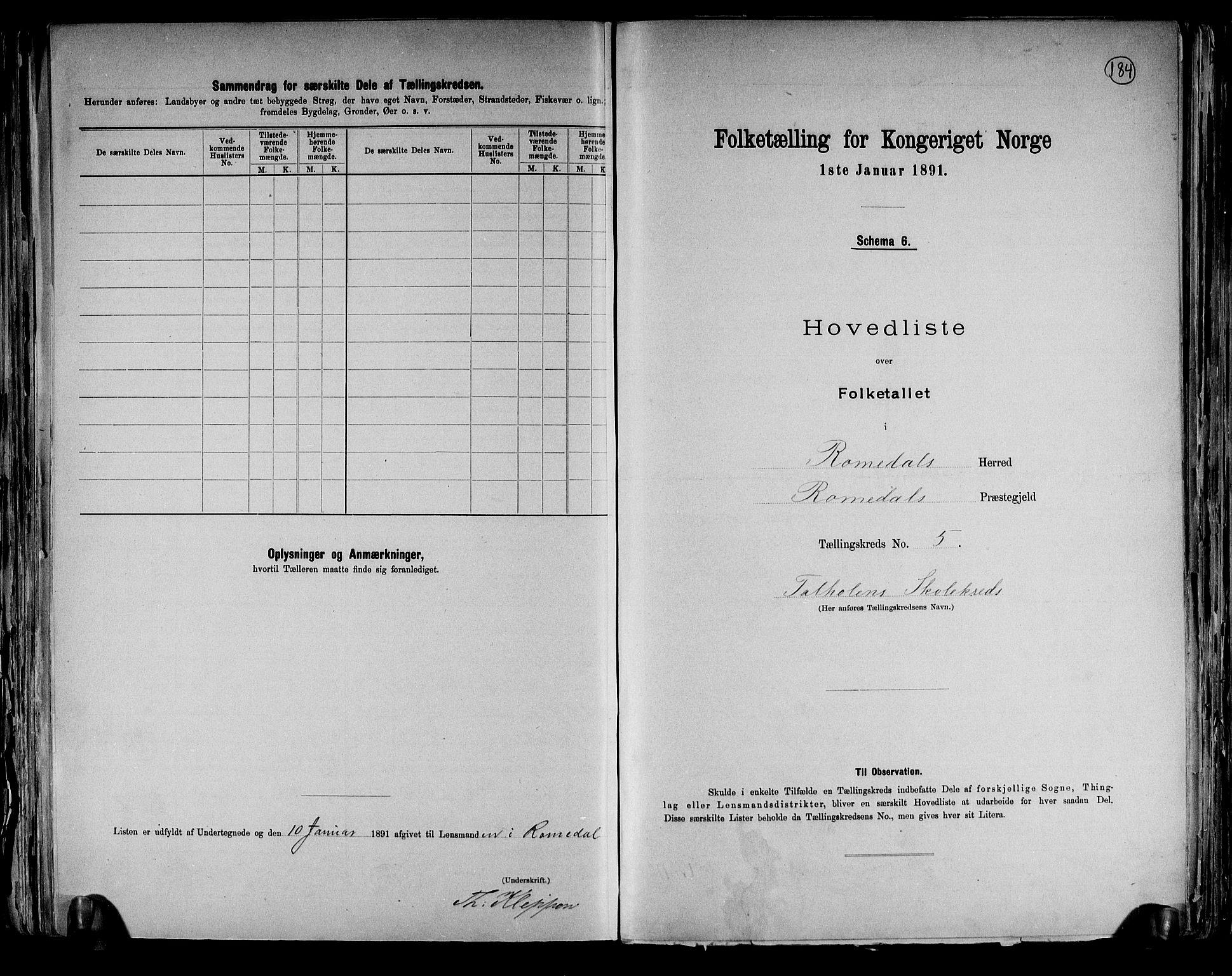 RA, Folketelling 1891 for 0416 Romedal herred, 1891, s. 13