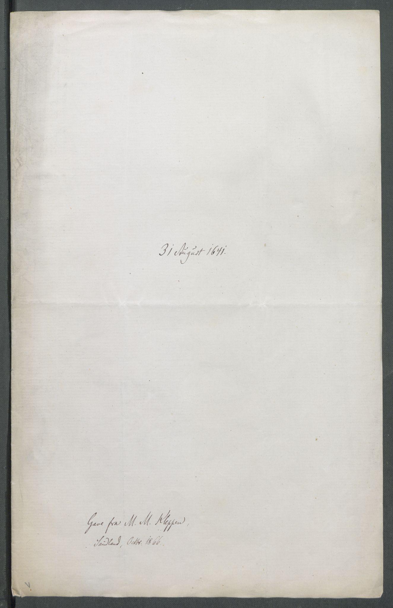 RA, Riksarkivets diplomsamling, F02/L0154: Dokumenter, 1641, s. 35