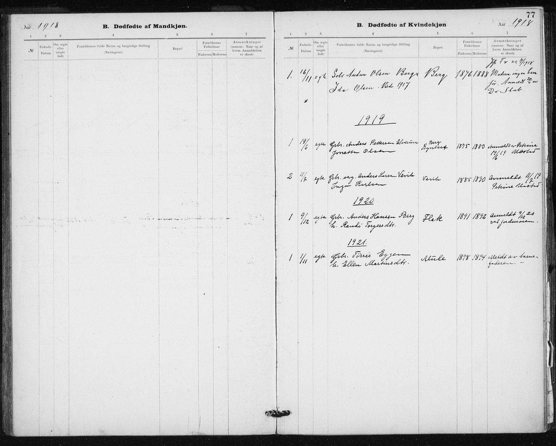 SAT, Ministerialprotokoller, klokkerbøker og fødselsregistre - Sør-Trøndelag, 612/L0381: Ministerialbok nr. 612A13, 1907-1923, s. 77