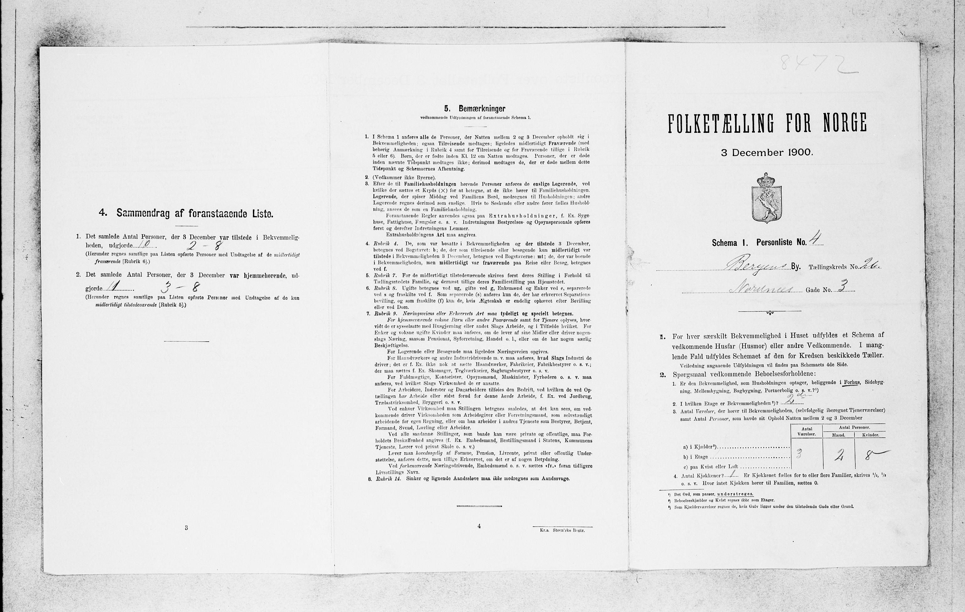 SAB, Folketelling 1900 for 1301 Bergen kjøpstad, 1900, s. 5526