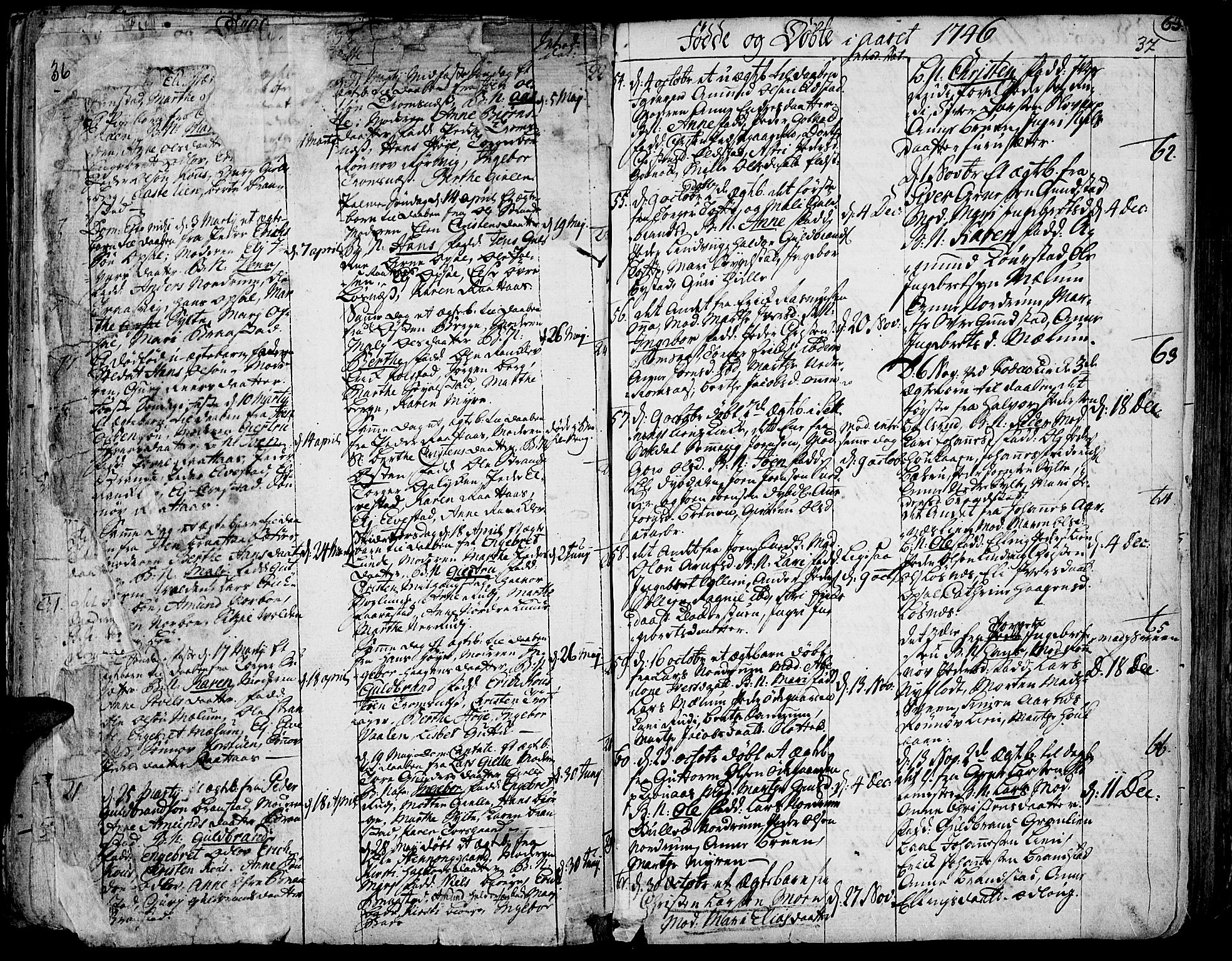 SAH, Ringebu prestekontor, Ministerialbok nr. 2, 1734-1780, s. 36-37
