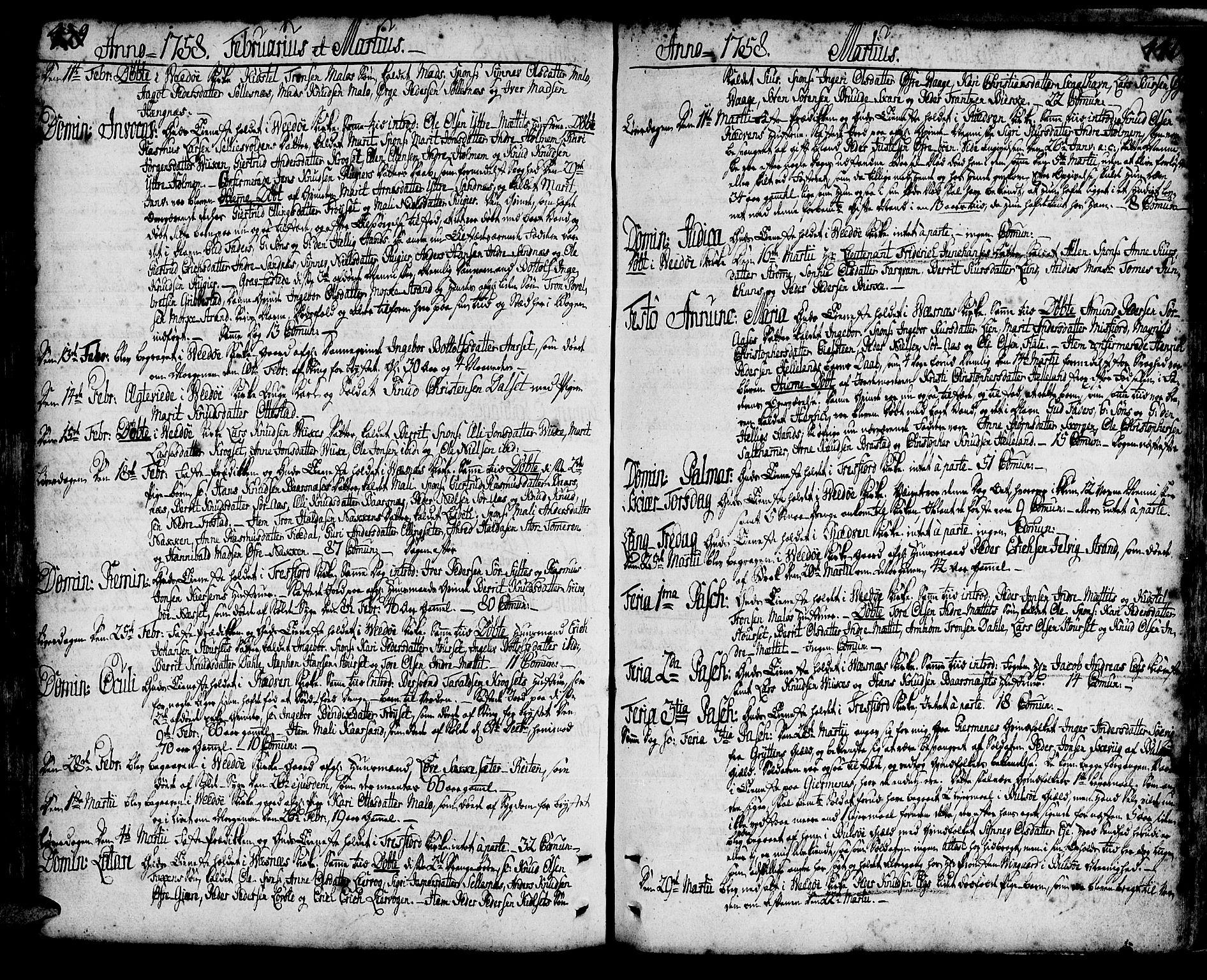 SAT, Ministerialprotokoller, klokkerbøker og fødselsregistre - Møre og Romsdal, 547/L0599: Ministerialbok nr. 547A01, 1721-1764, s. 439-440