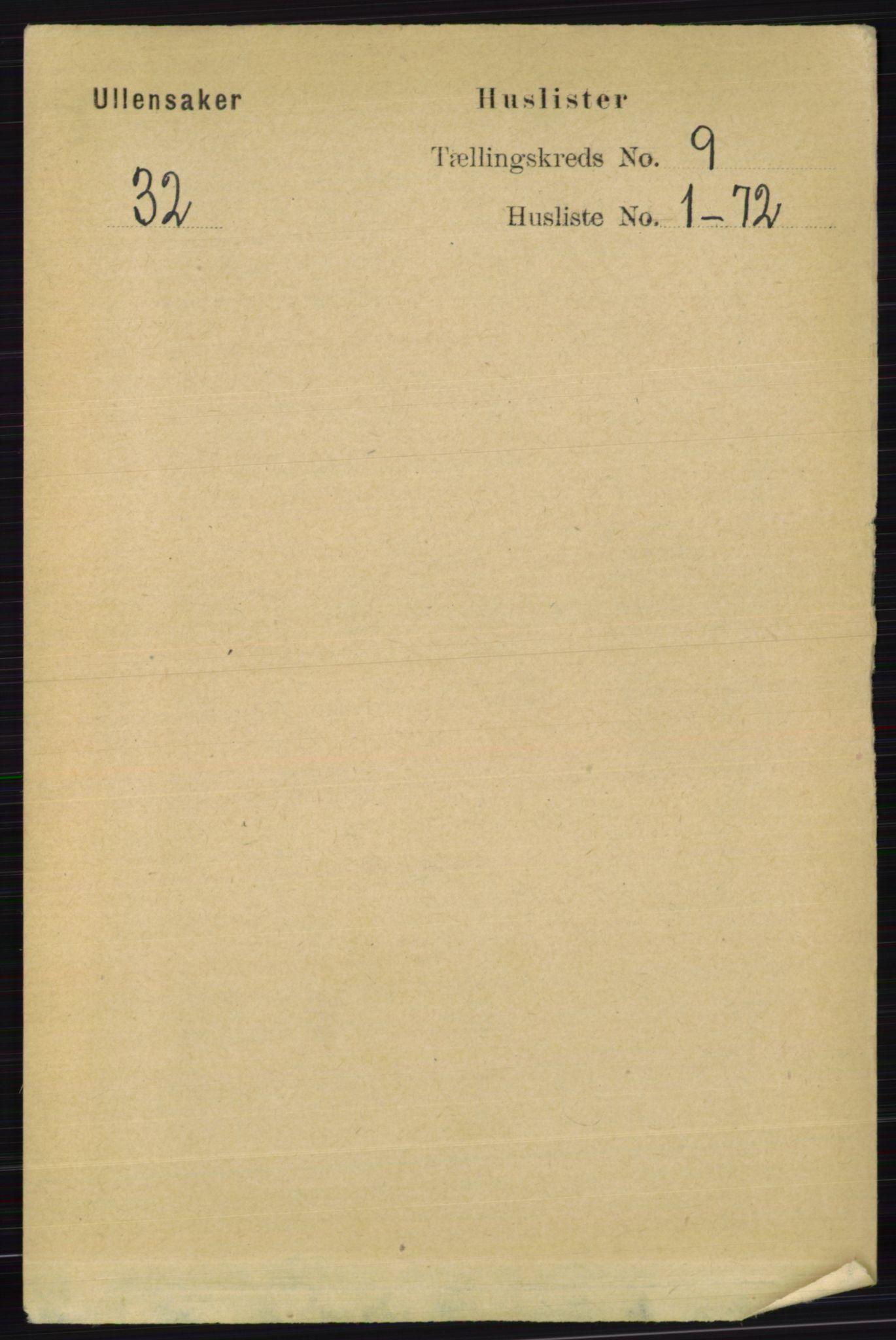 RA, Folketelling 1891 for 0235 Ullensaker herred, 1891, s. 3965