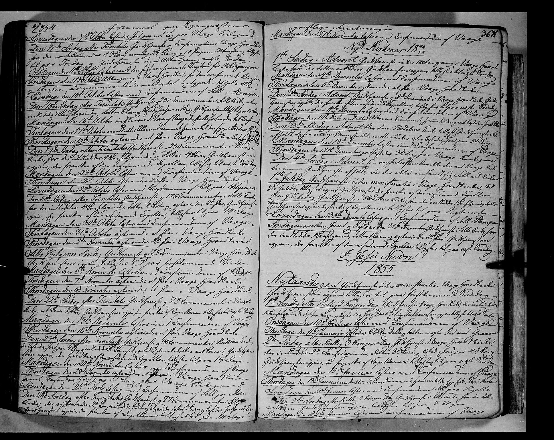 SAH, Vågå prestekontor, Ministerialbok nr. 5 /1, 1842-1856, s. 368