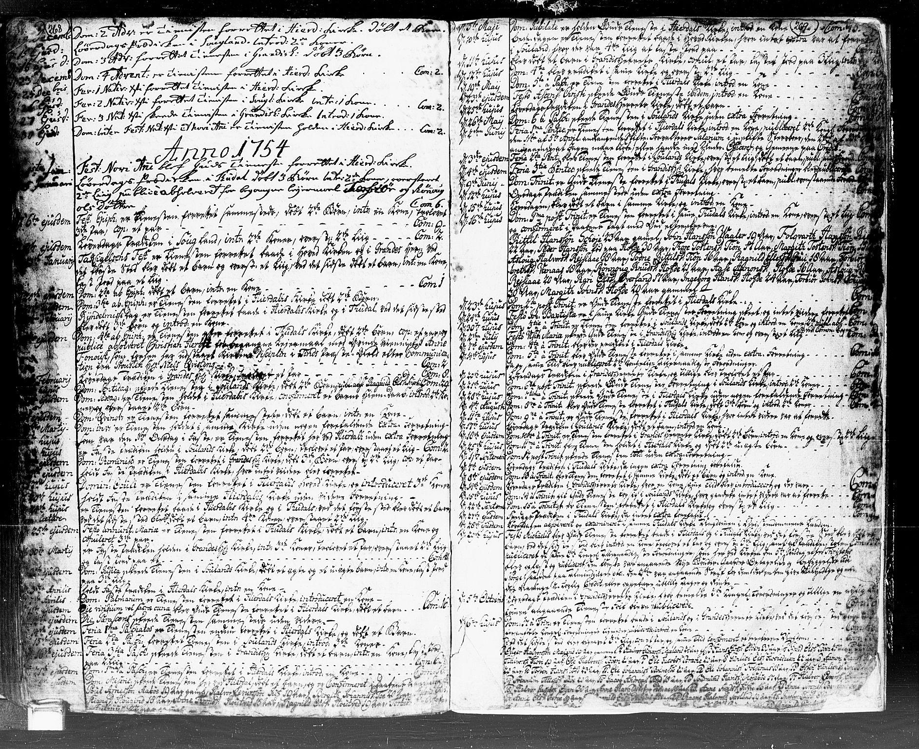 SAKO, Hjartdal kirkebøker, F/Fa/L0002: Ministerialbok nr. I 2, 1716-1754, s. 268-269