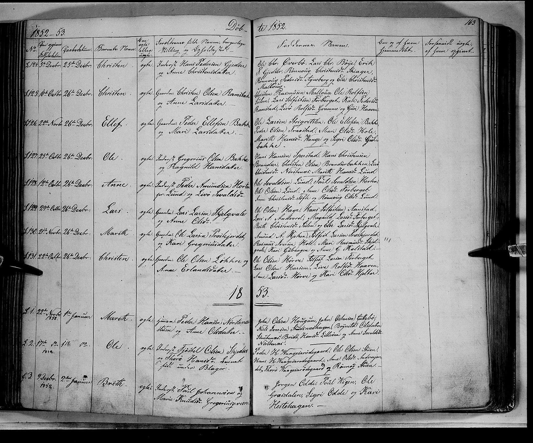 SAH, Lom prestekontor, K/L0006: Ministerialbok nr. 6A, 1837-1863, s. 163