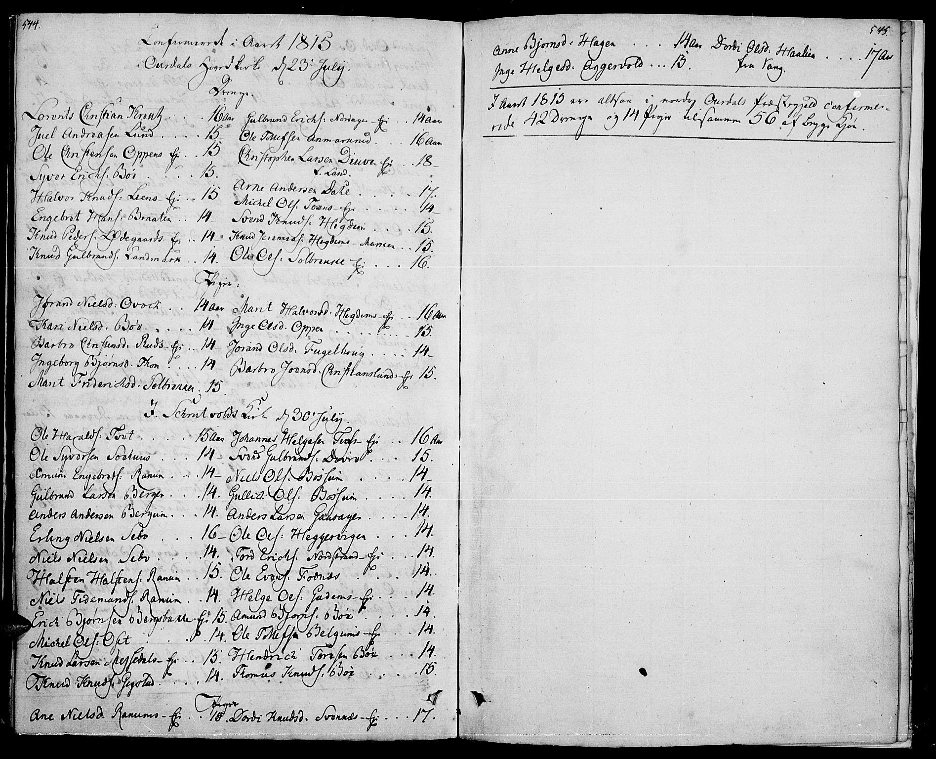 SAH, Nord-Aurdal prestekontor, Ministerialbok nr. 1, 1808-1815, s. 544-545