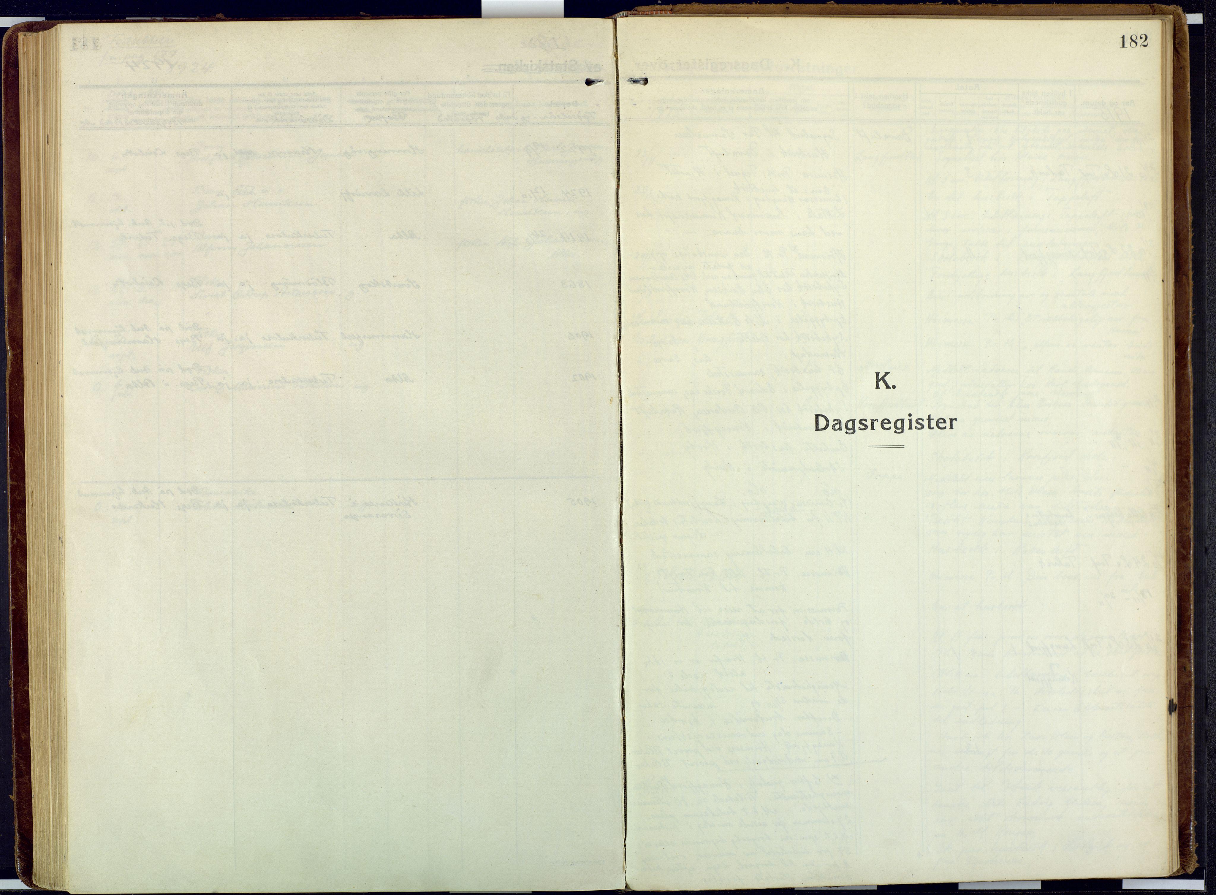 SATØ, Talvik sokneprestkontor, H/Ha/L0018kirke: Ministerialbok nr. 18, 1915-1924, s. 182