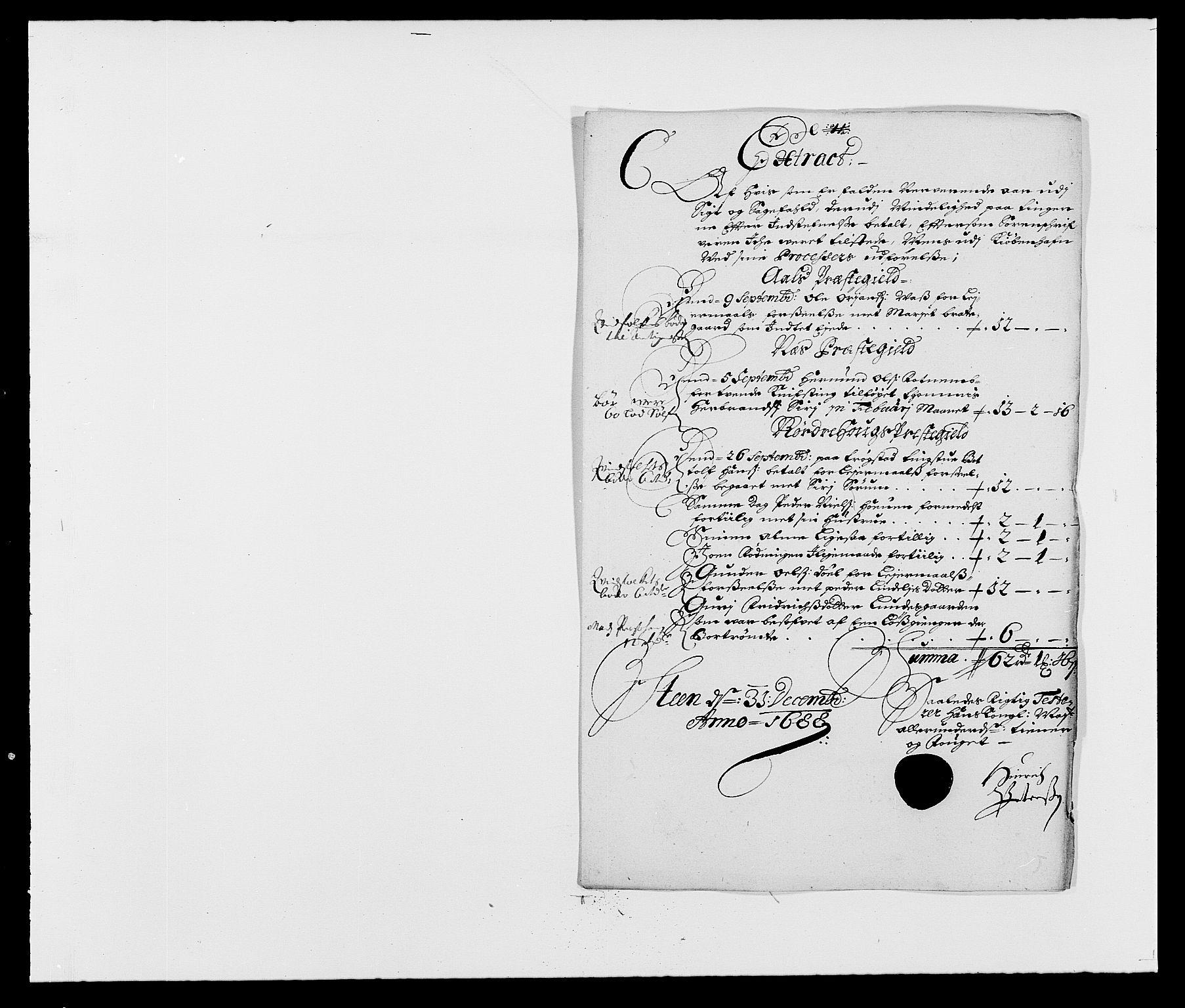 RA, Rentekammeret inntil 1814, Reviderte regnskaper, Fogderegnskap, R21/L1447: Fogderegnskap Ringerike og Hallingdal, 1687-1689, s. 162