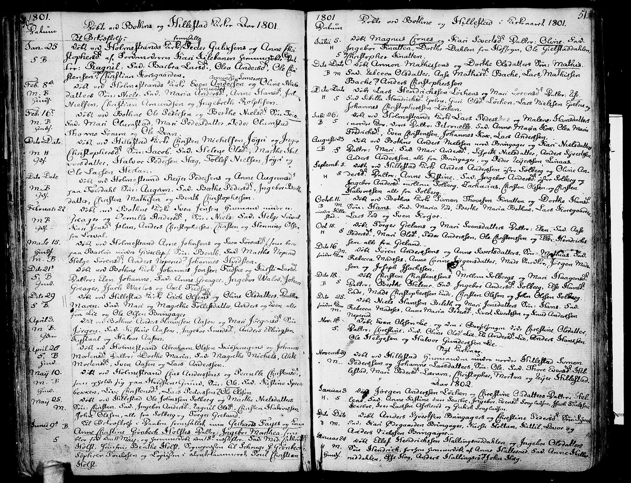 SAKO, Botne kirkebøker, F/Fa/L0003: Ministerialbok nr. I 3 /1, 1792-1844, s. 50-51