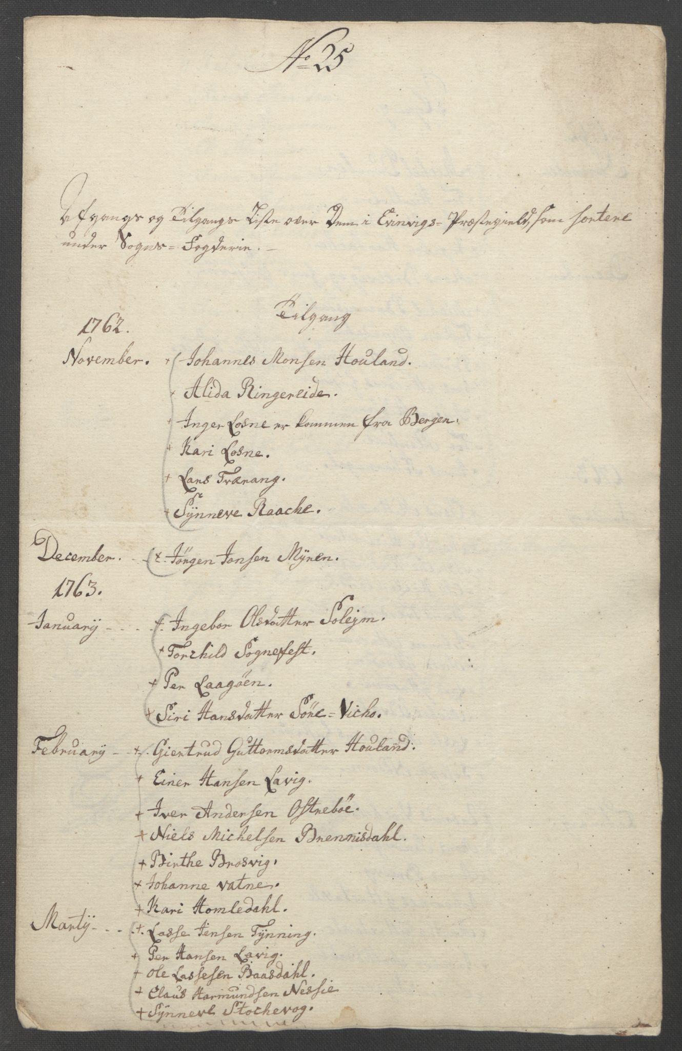 RA, Rentekammeret inntil 1814, Reviderte regnskaper, Fogderegnskap, R52/L3418: Ekstraskatten Sogn, 1762-1769, s. 324