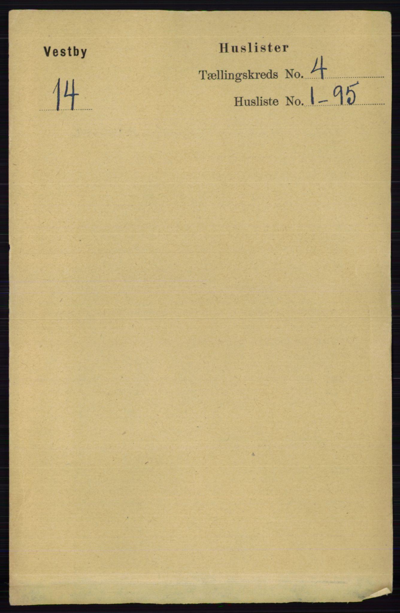 RA, Folketelling 1891 for 0211 Vestby herred, 1891, s. 1479